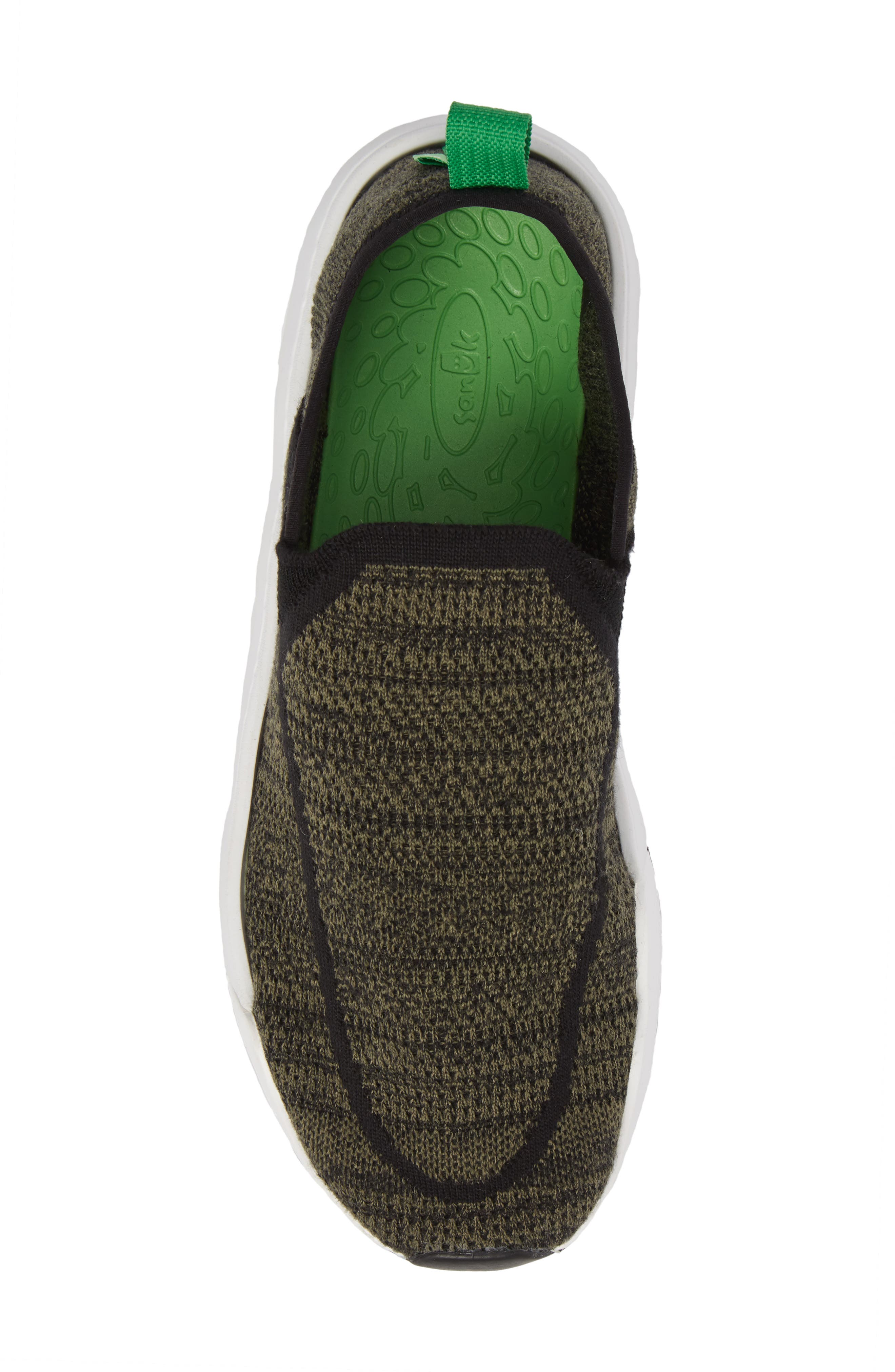 Chiba Quest Knit Slip-On Sneaker,                             Alternate thumbnail 5, color,                             OLIVE