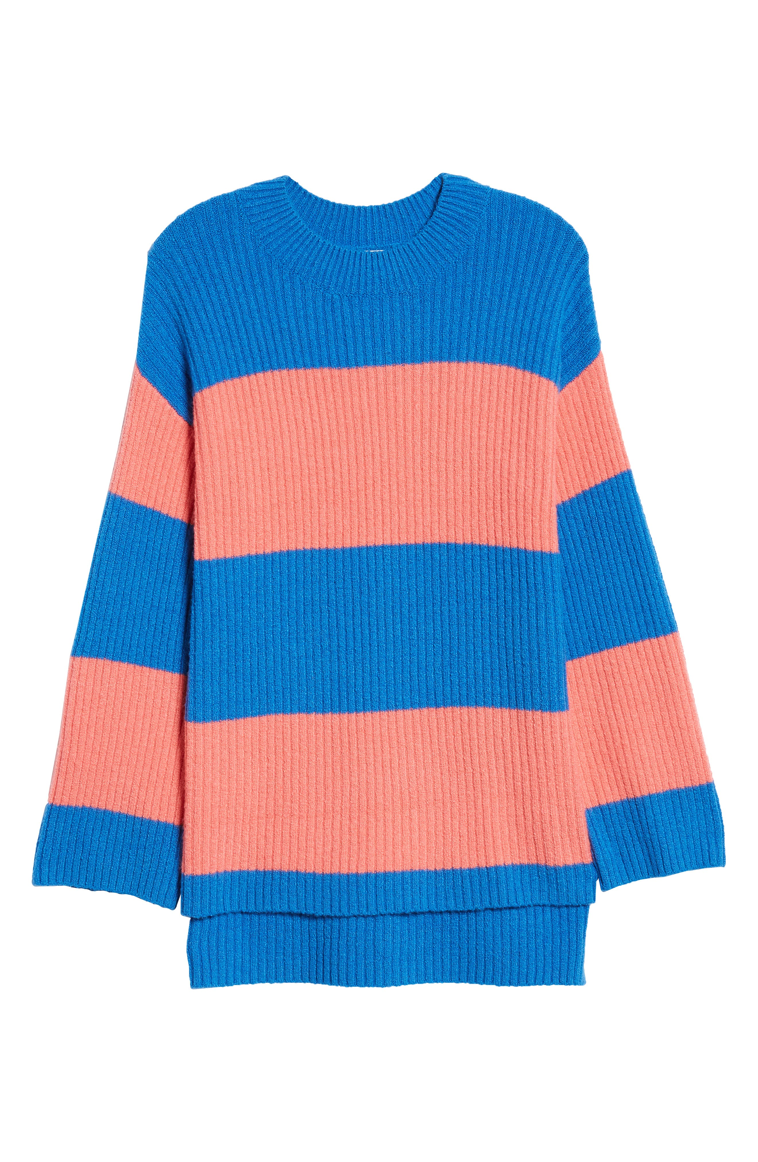 Rugby Stripe Sweater,                             Alternate thumbnail 8, color,                             BLUE BOAT COURTNEY STRIPE