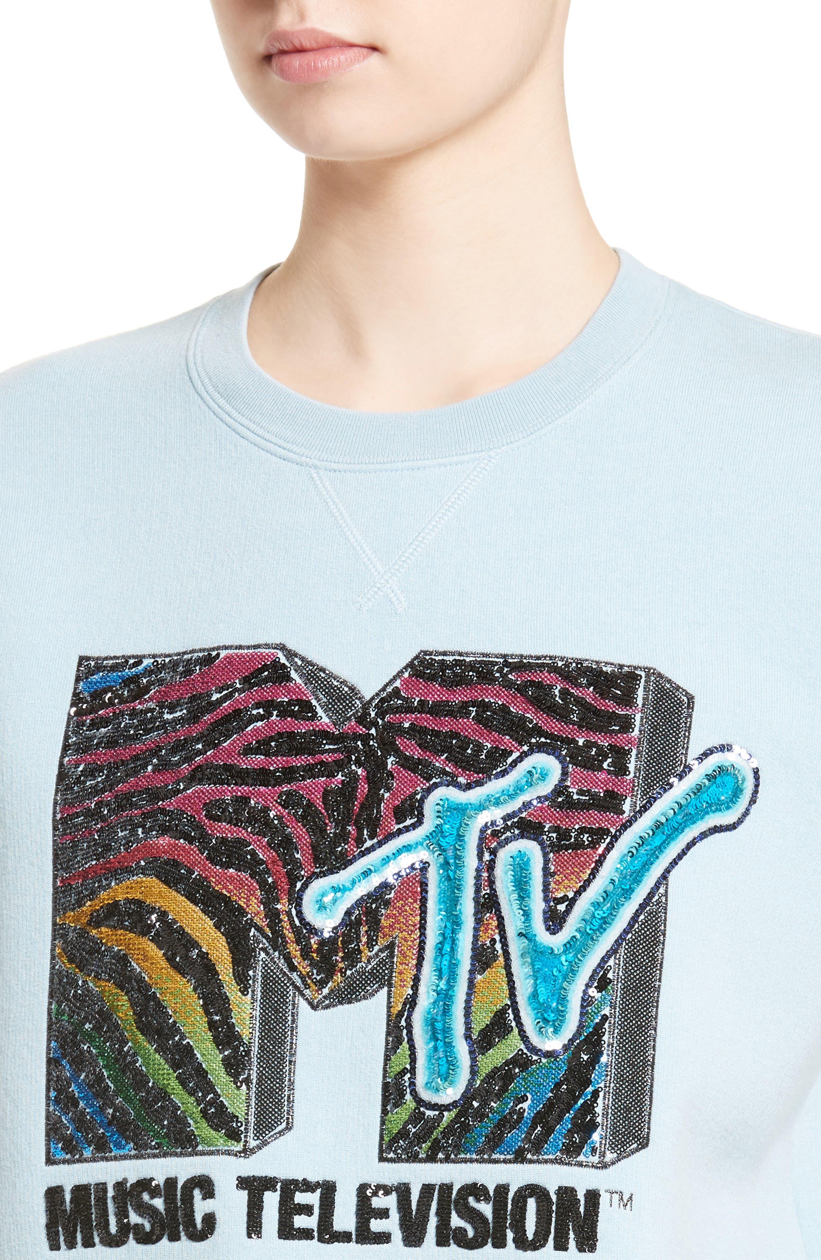 x MTV Logo Sweatshirt,                             Alternate thumbnail 4, color,                             451