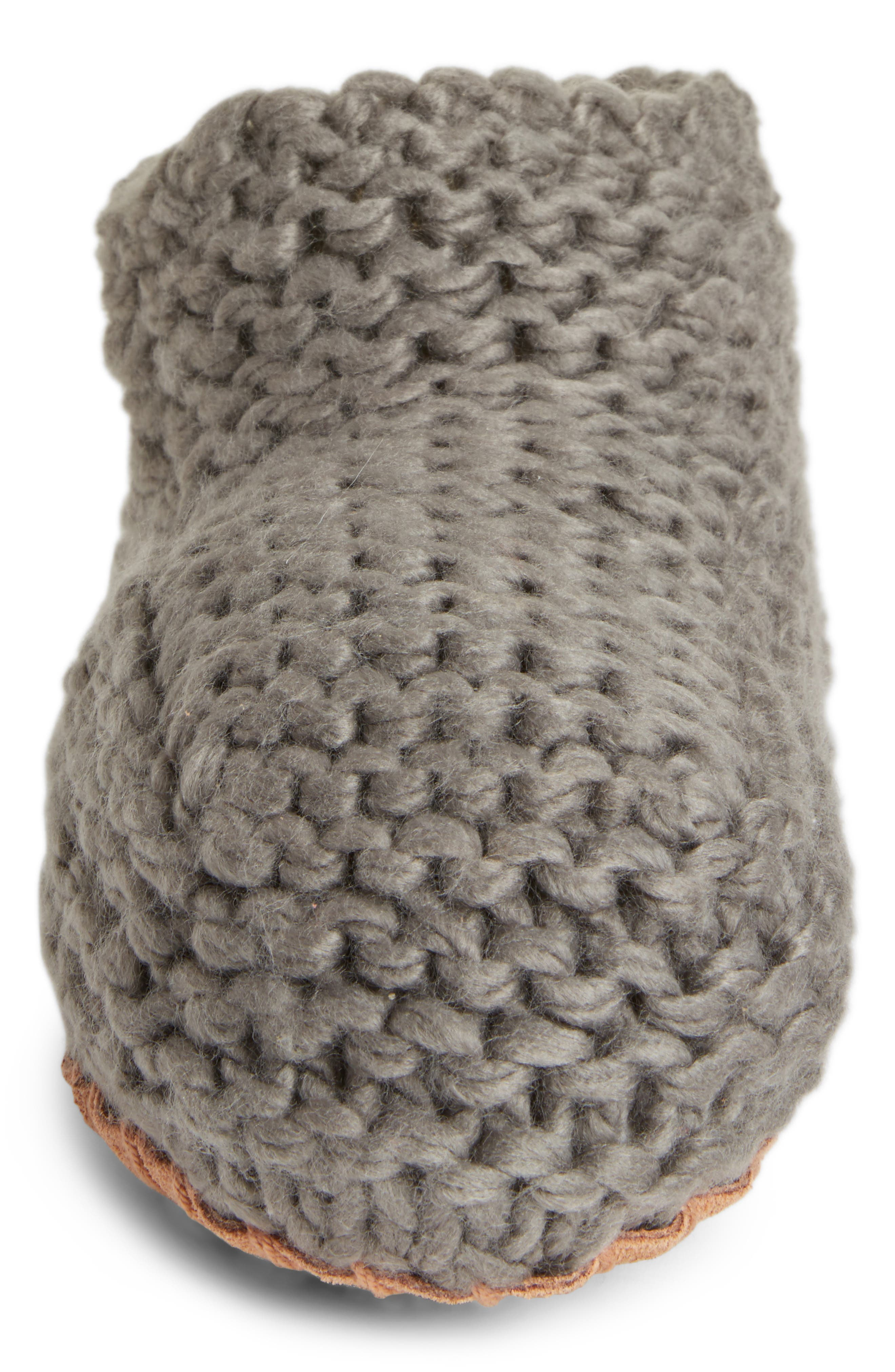 Knit Slipper Bootie,                             Alternate thumbnail 4, color,                             020