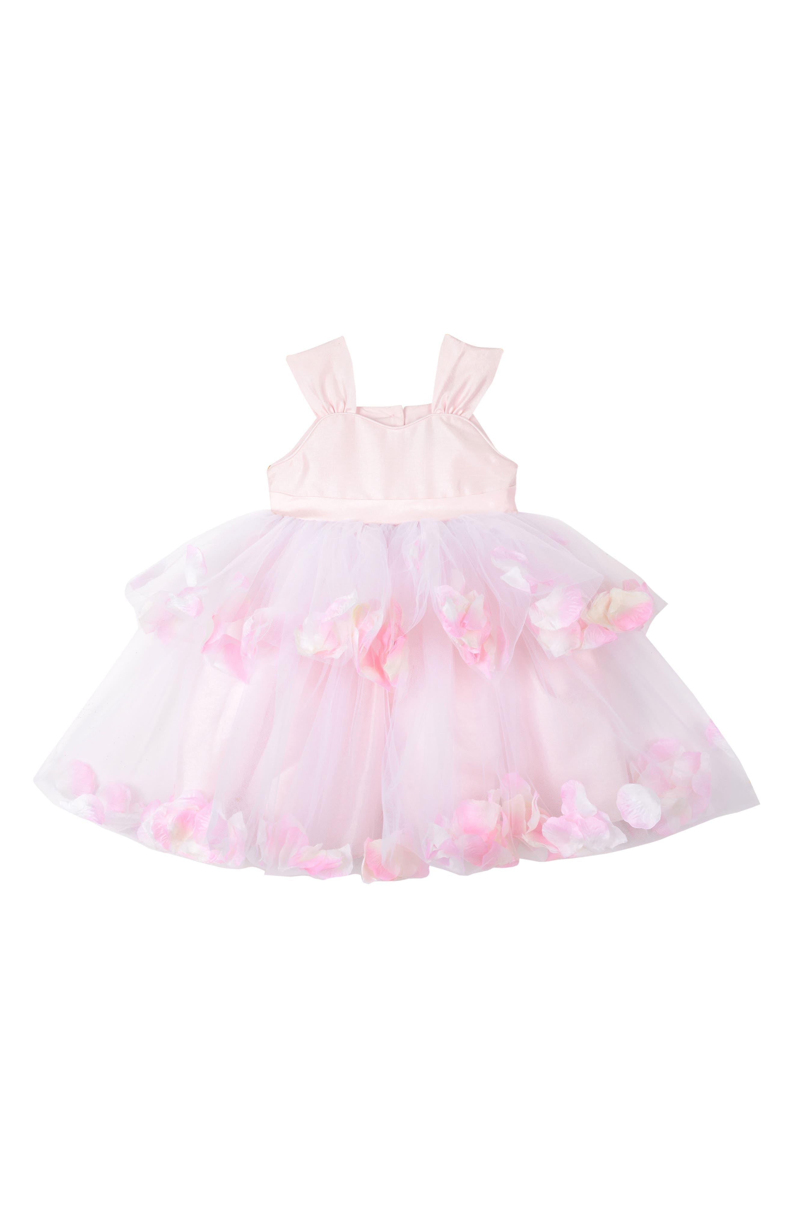 Tiered Petal Dress,                         Main,                         color, SILVER MULTI