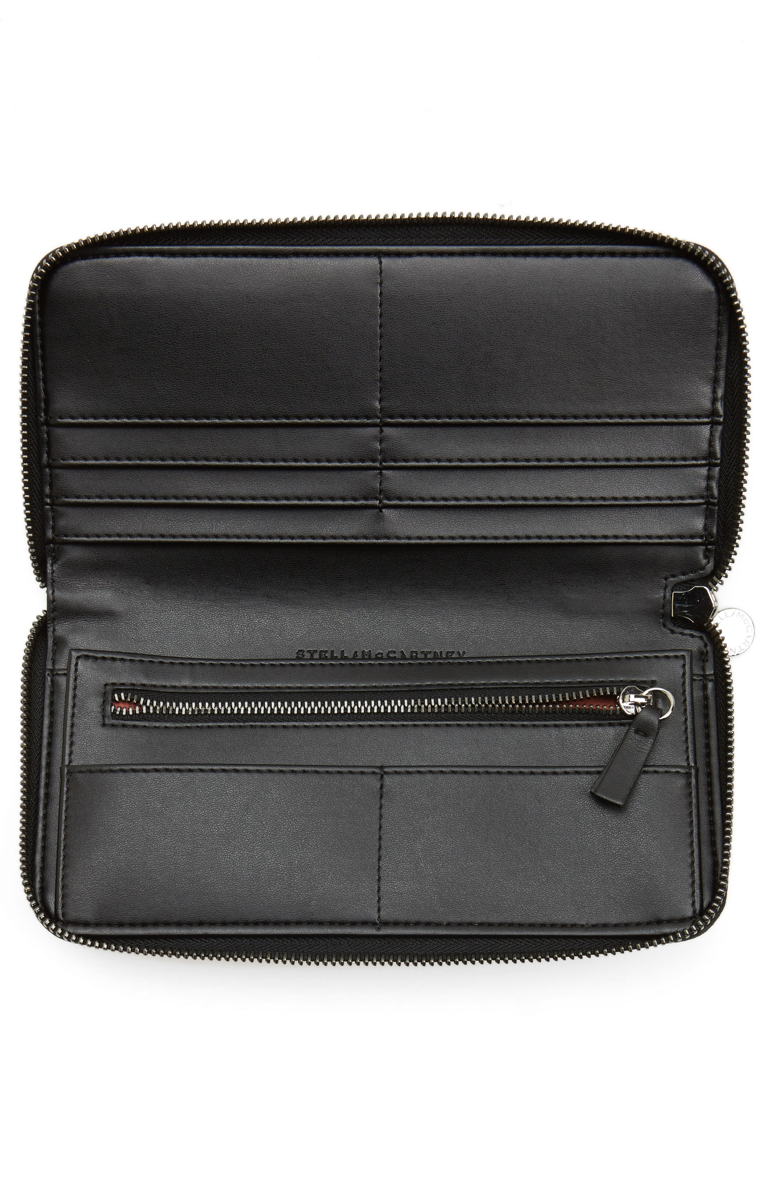 Falabella Faux Leather Wallet,                             Alternate thumbnail 2, color,                             001