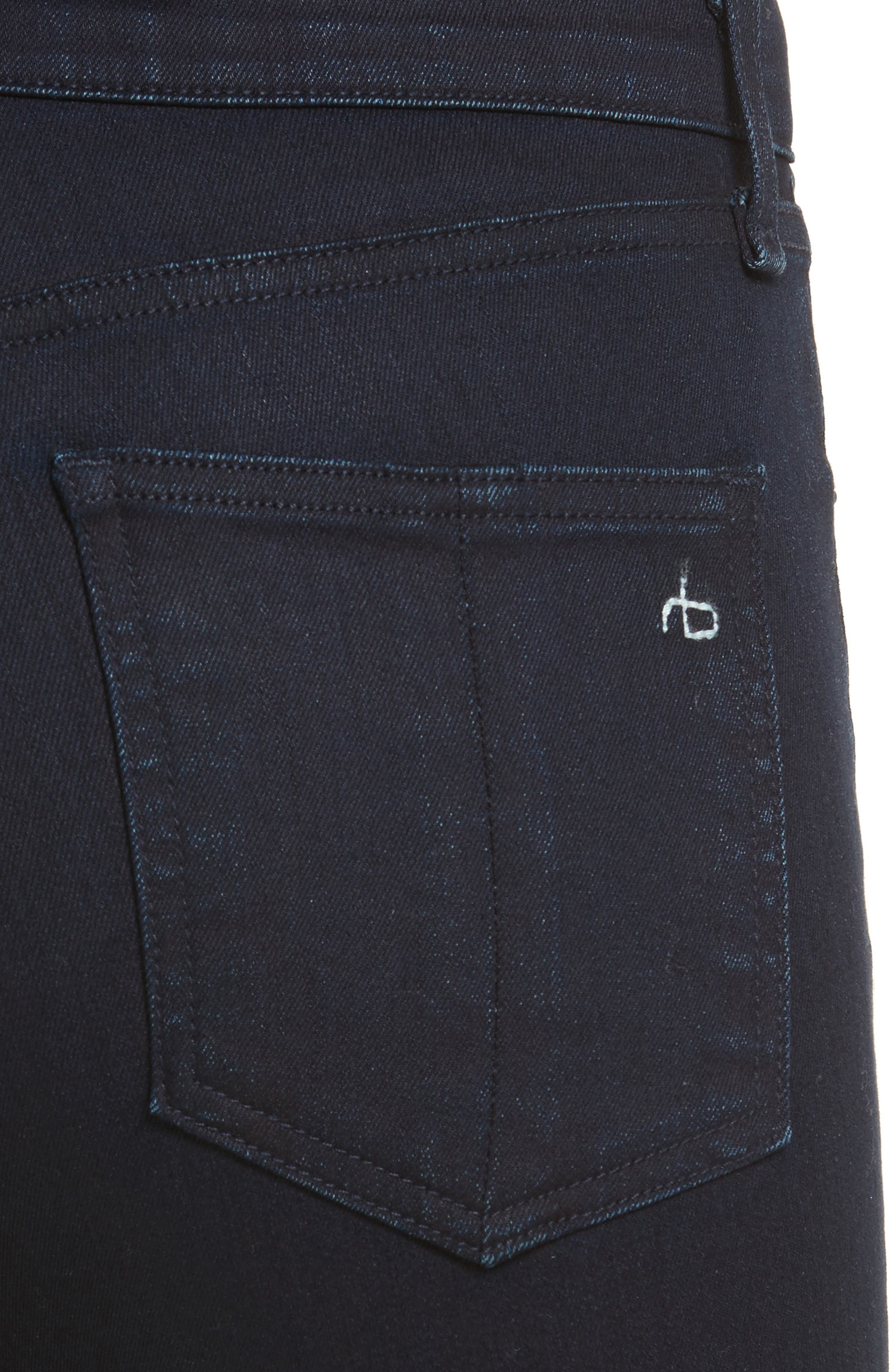 RAG & BONE,                             JEAN High Waist Ankle Skinny Jeans,                             Alternate thumbnail 4, color,                             001