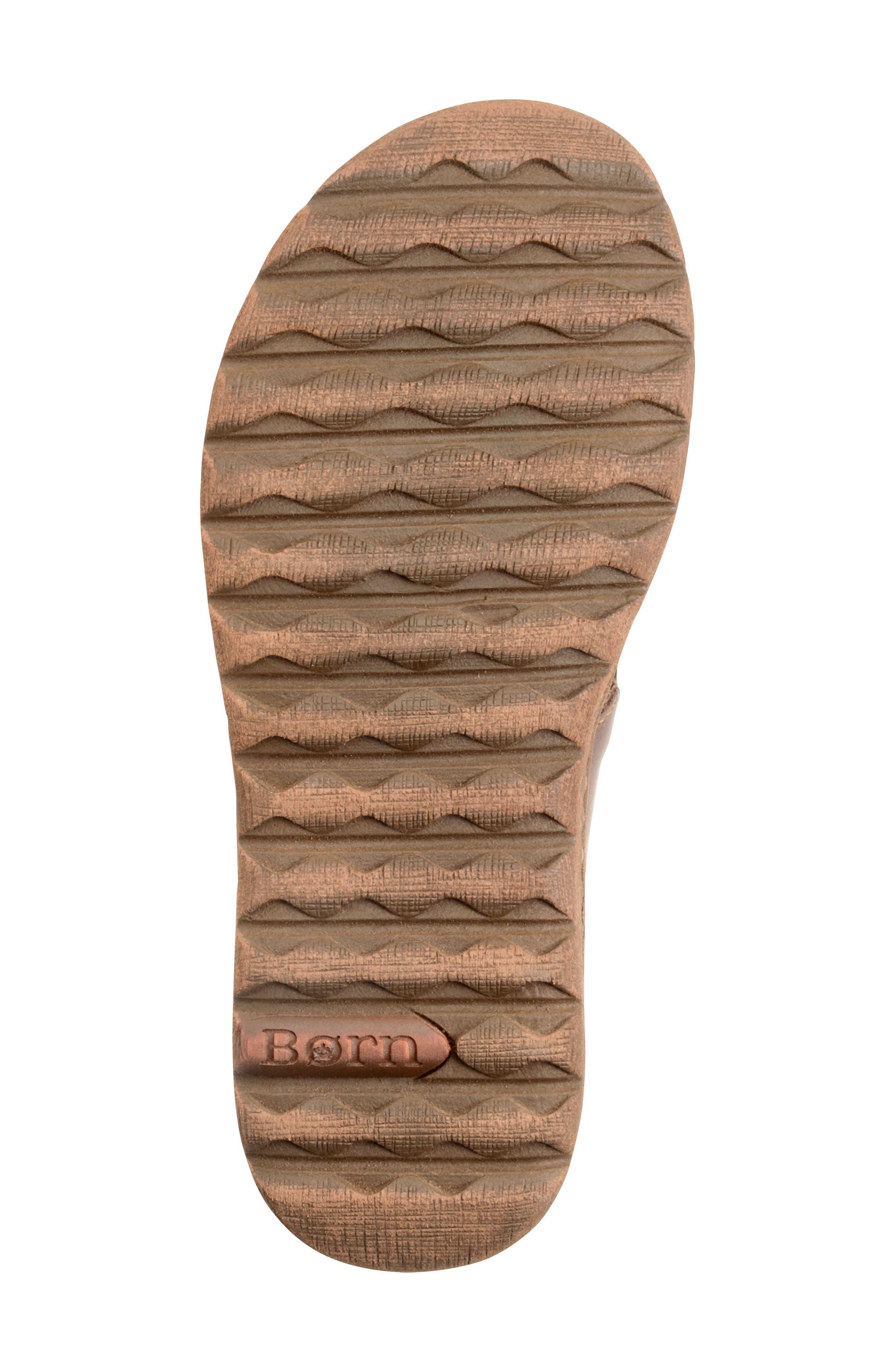 'Sorja' Leather Sandal,                             Alternate thumbnail 6, color,                             DARK BROWN LEATHER
