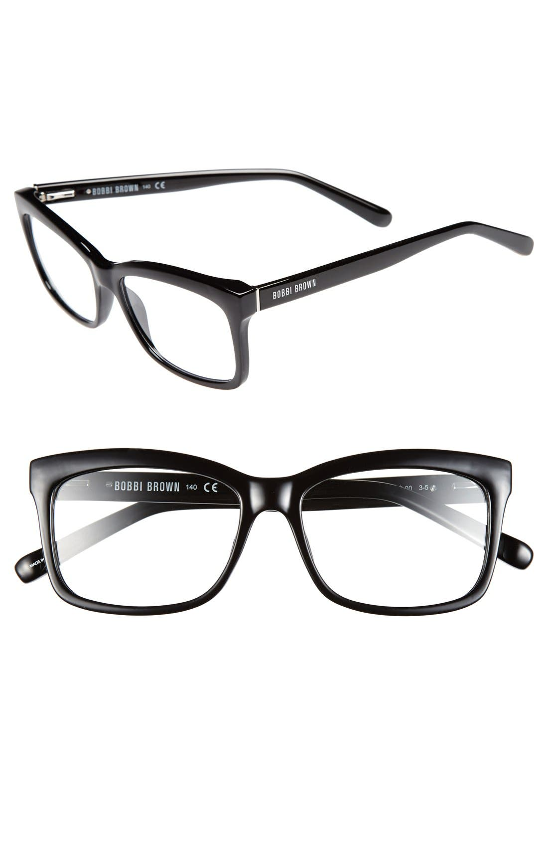 The Brooklyn 53mm Reading Glasses,                             Main thumbnail 1, color,                             BLACK