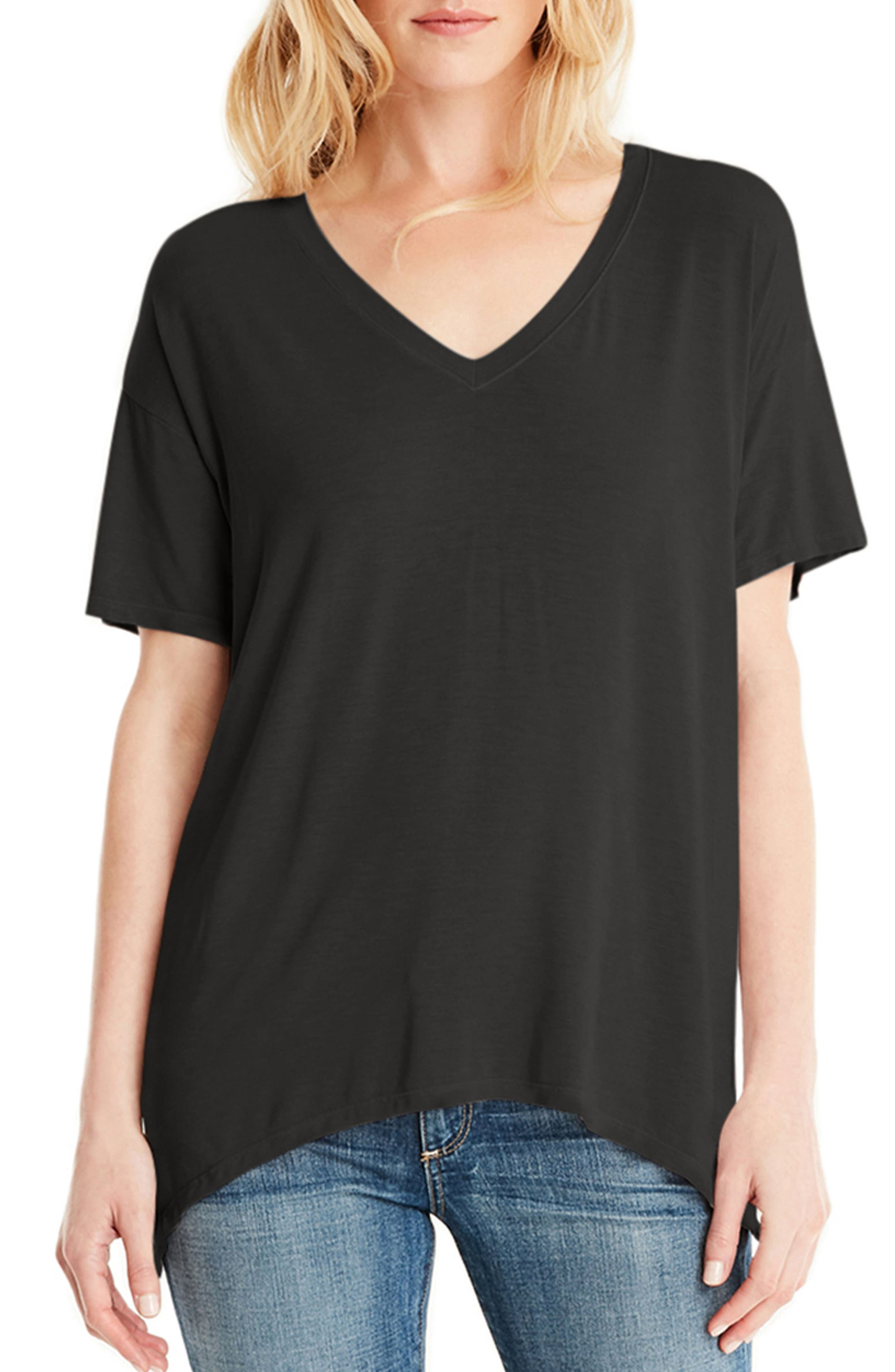 V-Neck Tee,                             Main thumbnail 1, color,                             001