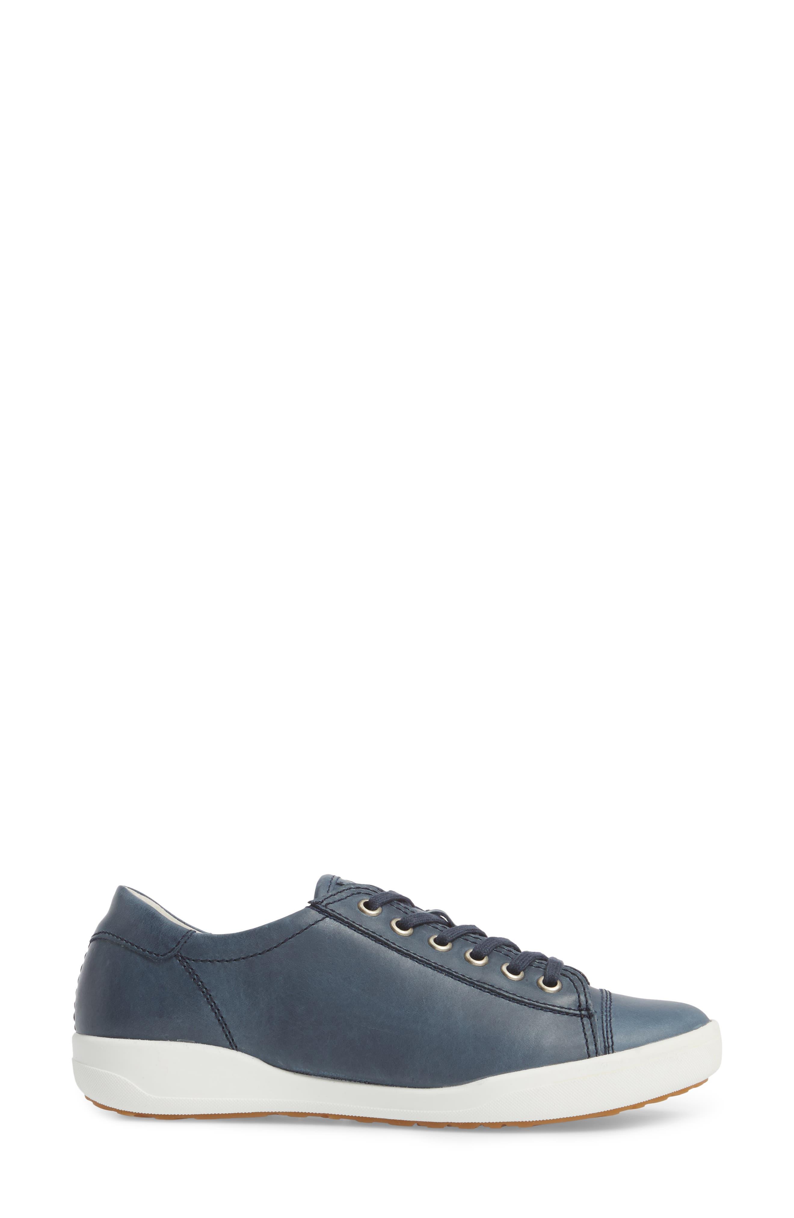 Sina 11 Sneaker,                             Alternate thumbnail 3, color,                             DENIM LEATHER