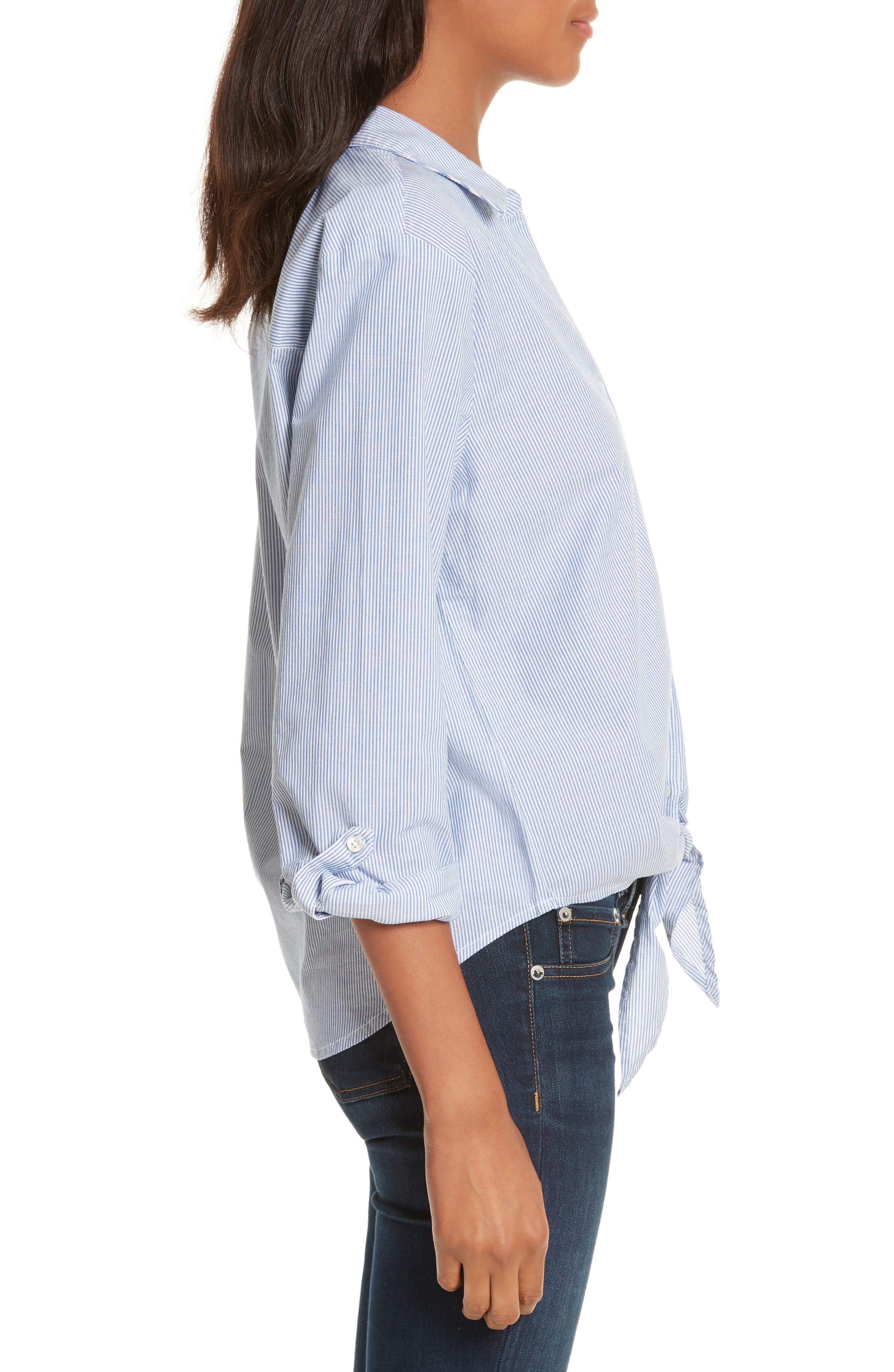 Crysta Tie Front Shirt,                             Alternate thumbnail 3, color,                             473