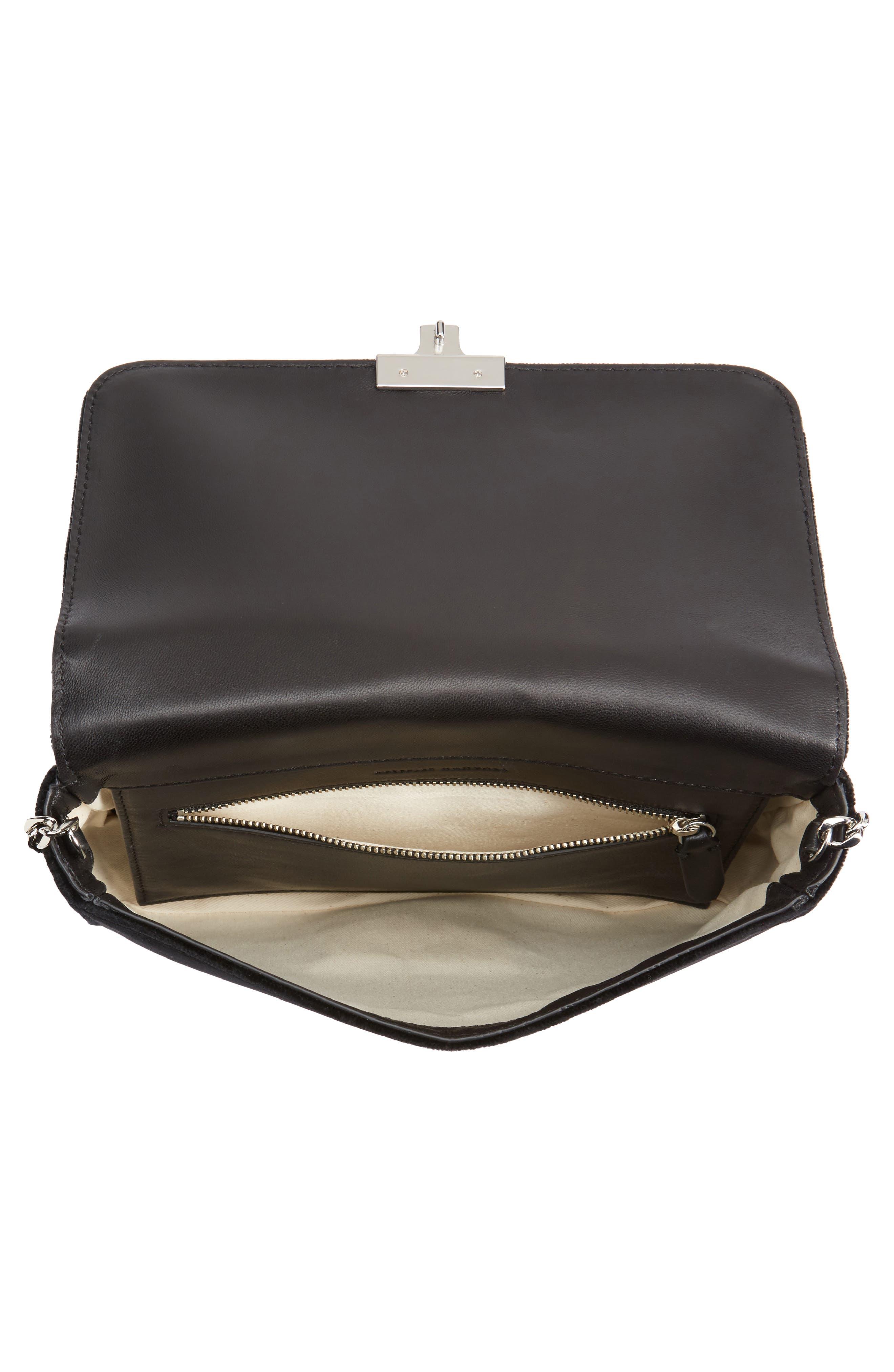 Loeffler Randal Lock Sequin Shoulder Bag,                             Alternate thumbnail 4, color,
