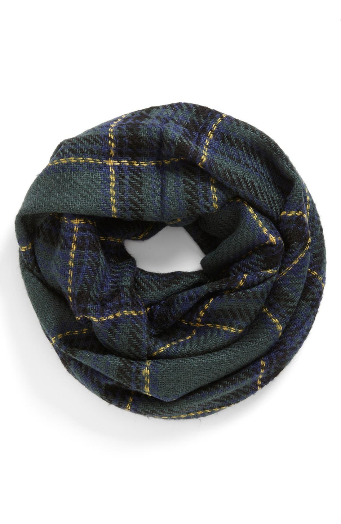 Plaid Infinity Scarf, Main, color, 300