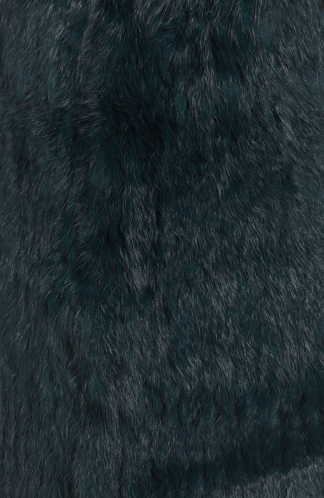 Genuine Rabbit Fur & Knit Vest,                             Alternate thumbnail 22, color,