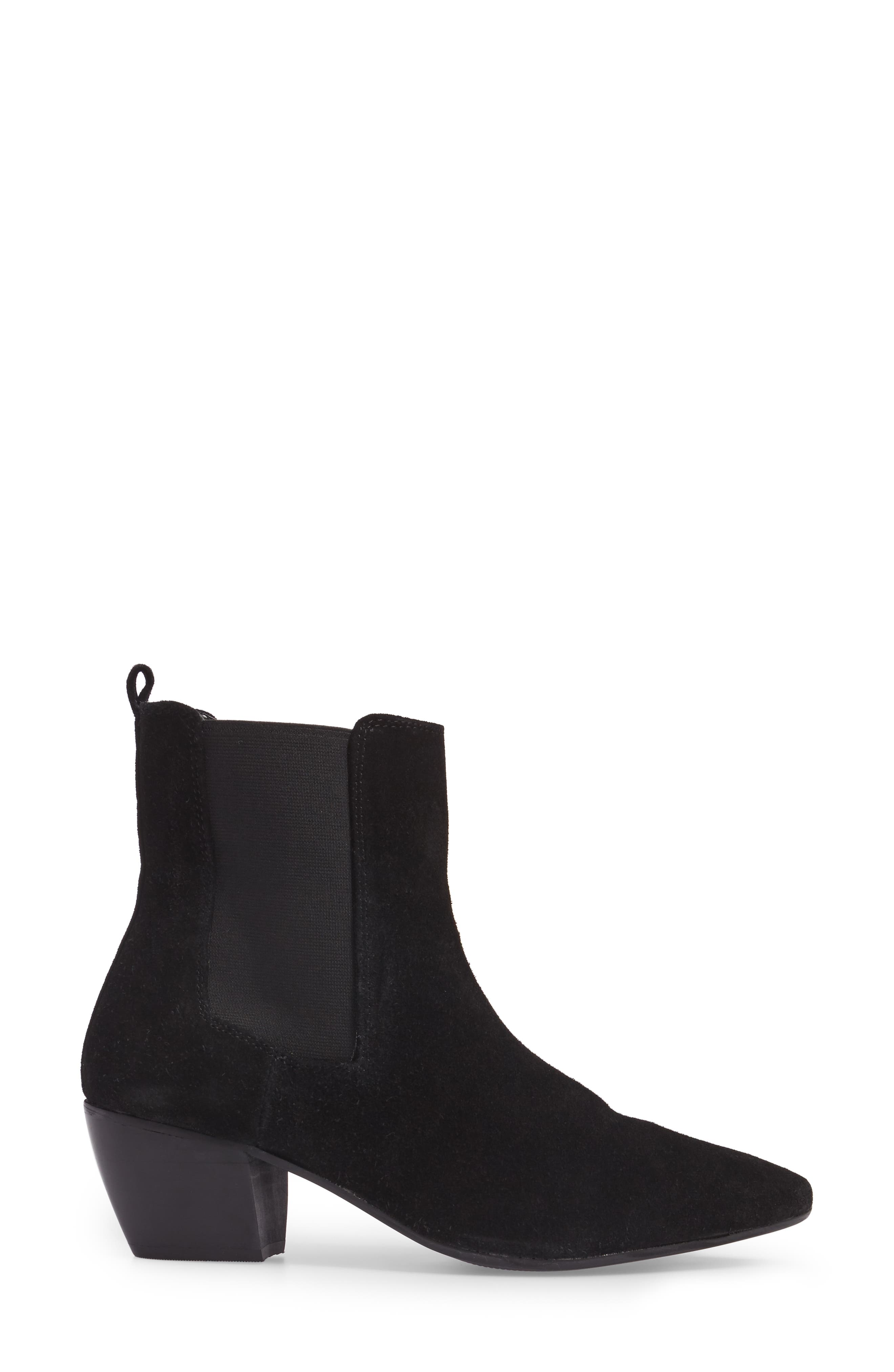 Bounty Suede Pointy Toe Bootie,                             Alternate thumbnail 3, color,