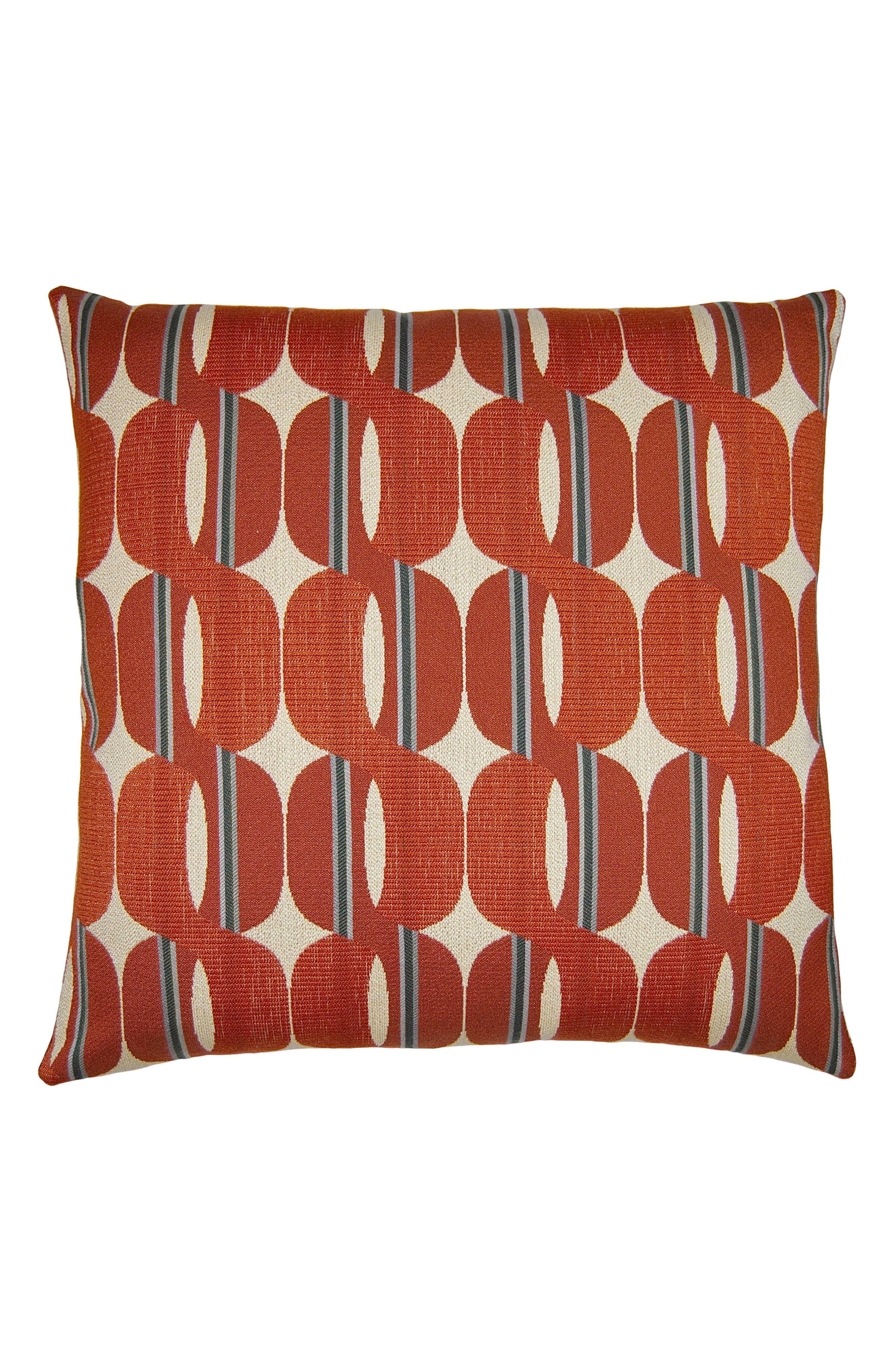 Tang Rings Accent Pillow,                             Main thumbnail 1, color,                             RUST
