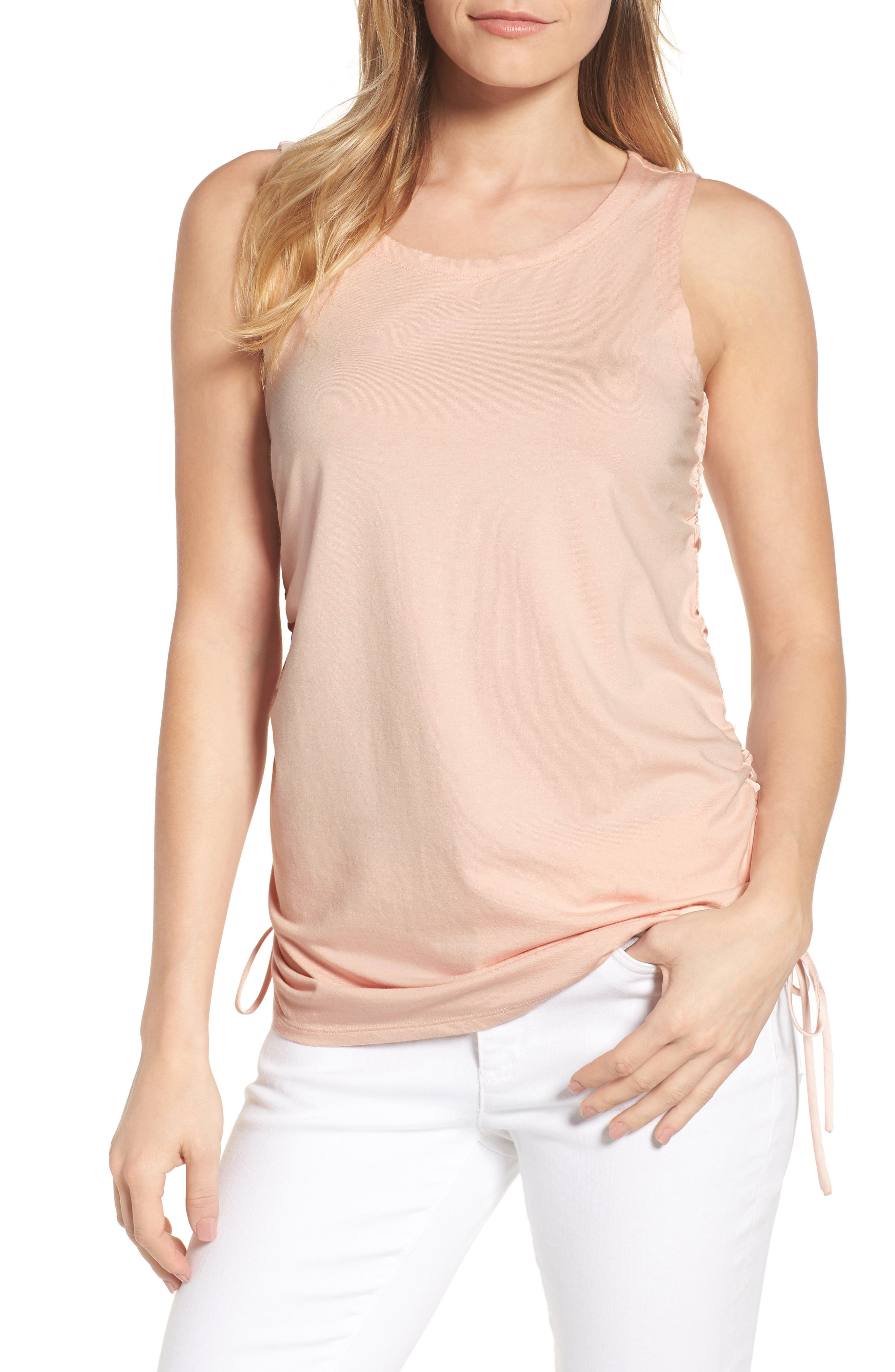 Cinched Drawstring Tank,                         Main,                         color, 650