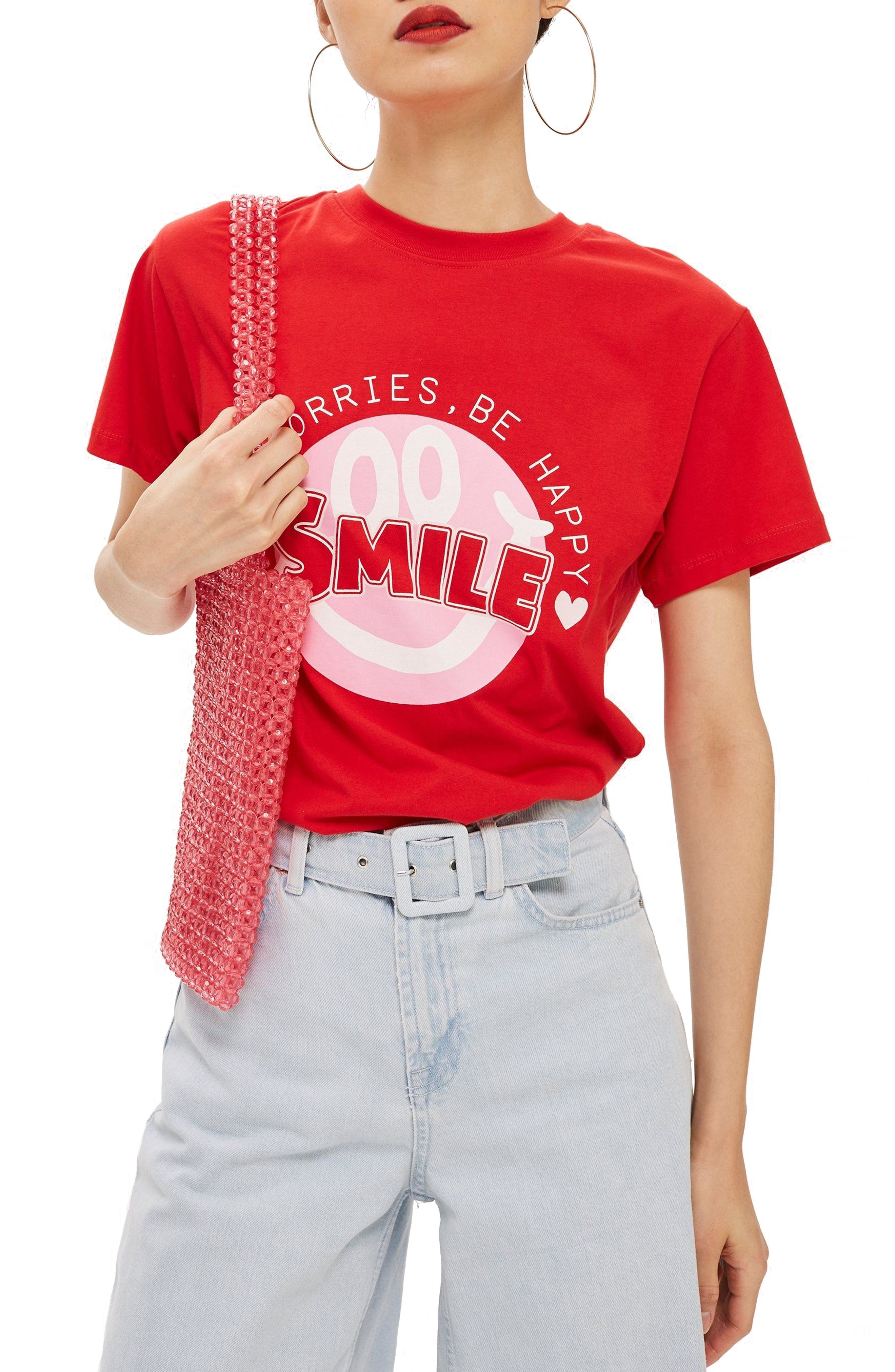 Smile Graphic Tee,                         Main,                         color, 600