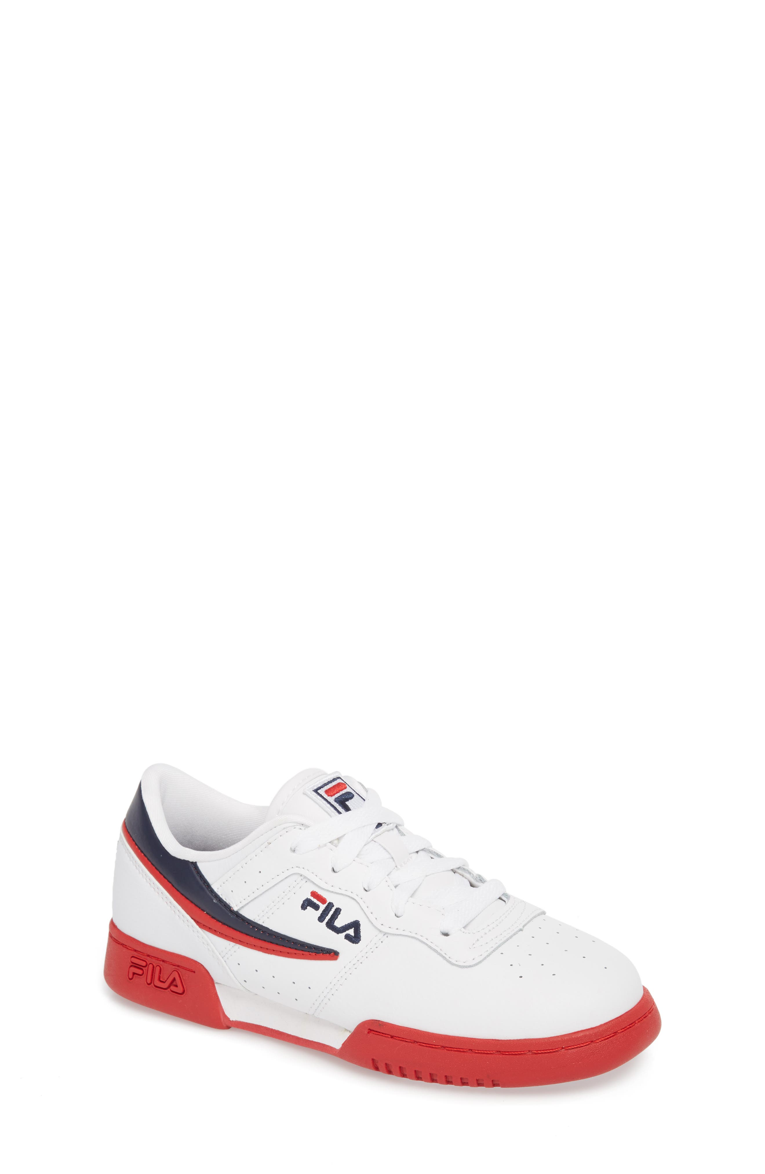 Original Fitness Sneaker,                             Main thumbnail 1, color,                             WHITE/ FILA RED