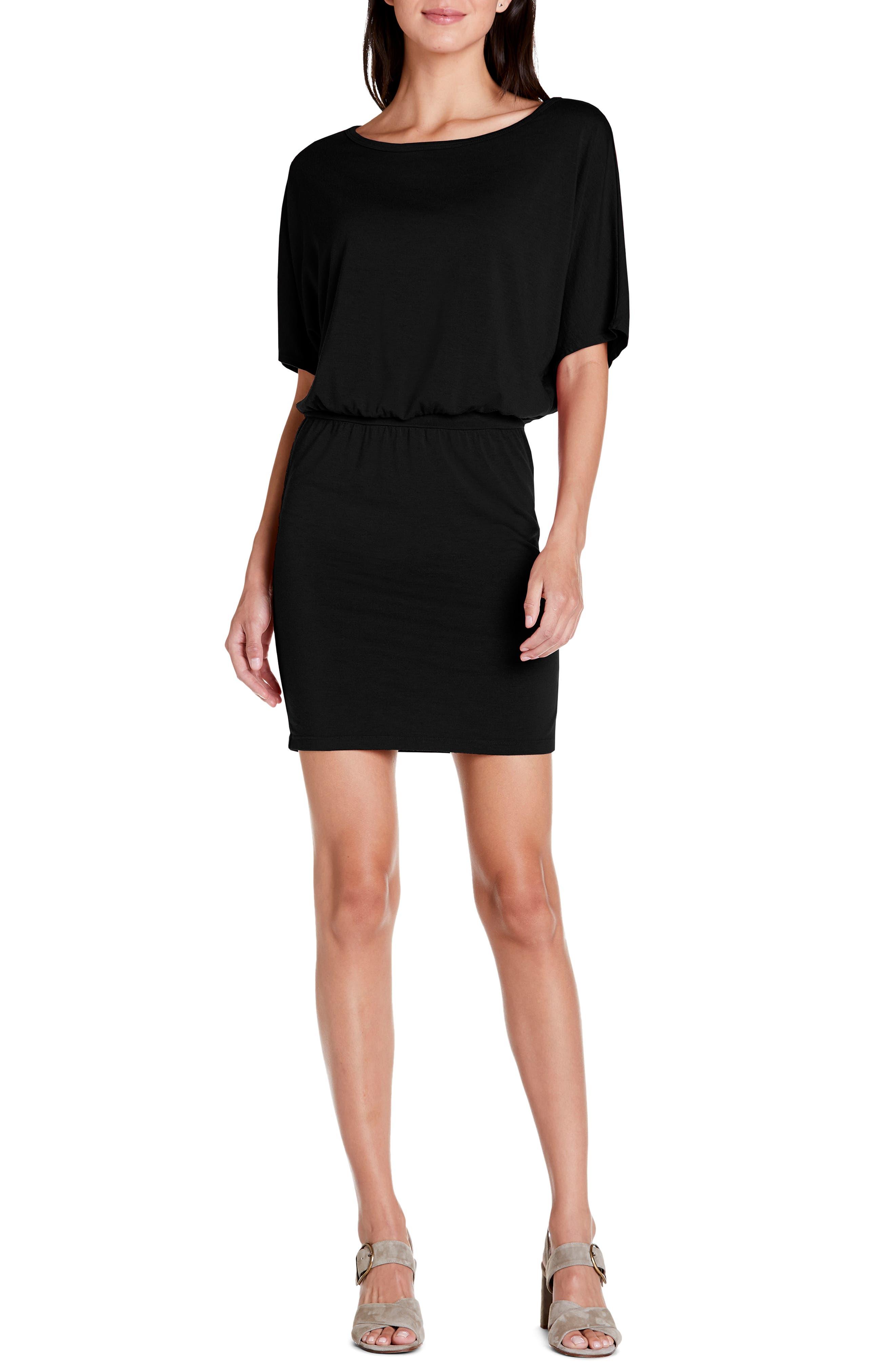 Michael Stars Erynn Elbow Sleeve Knit Dress, Black