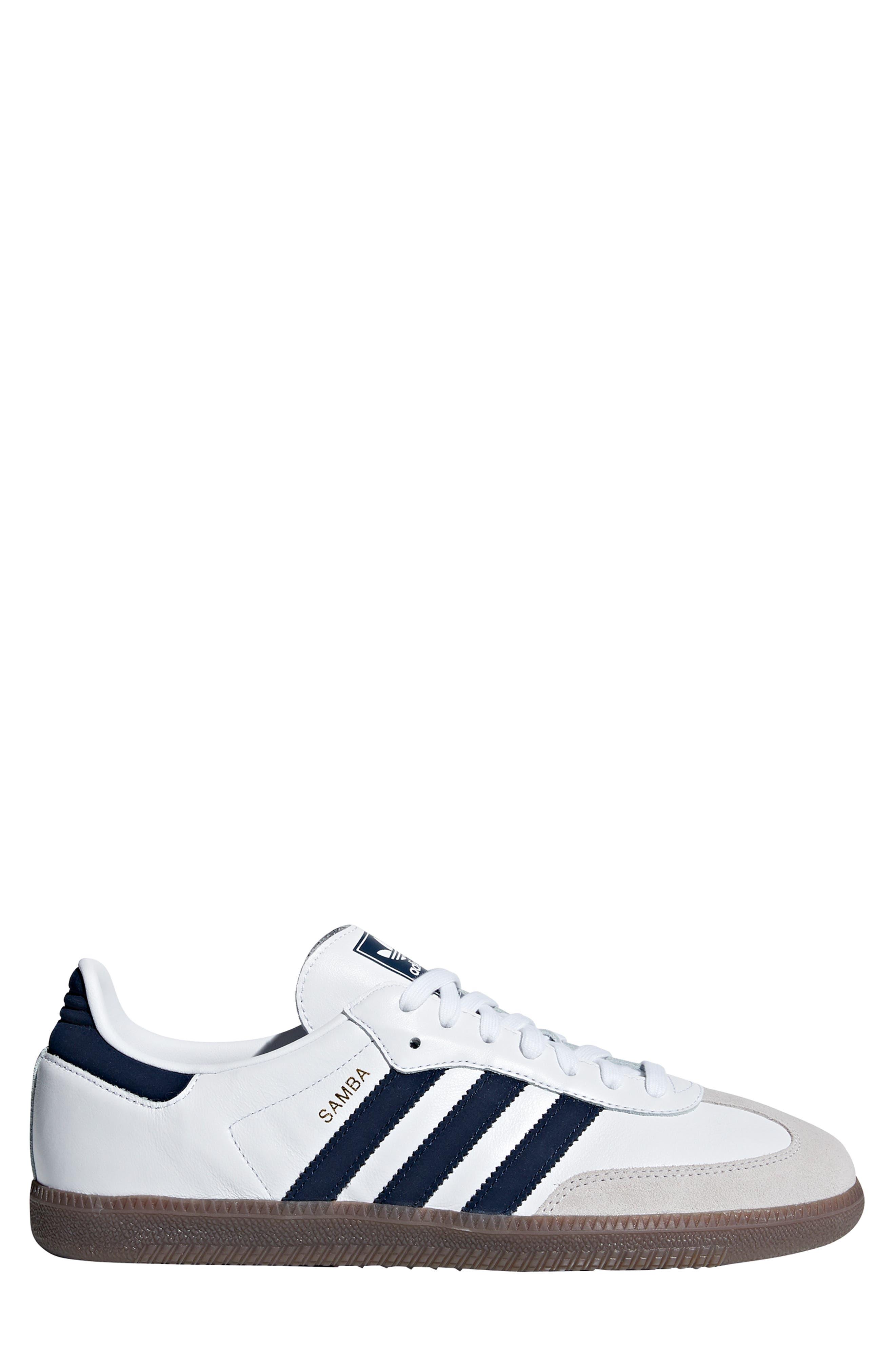 Samba OG Sneaker,                             Alternate thumbnail 3, color,                             WHITE/ NAVY / CRYSTAL WHITE