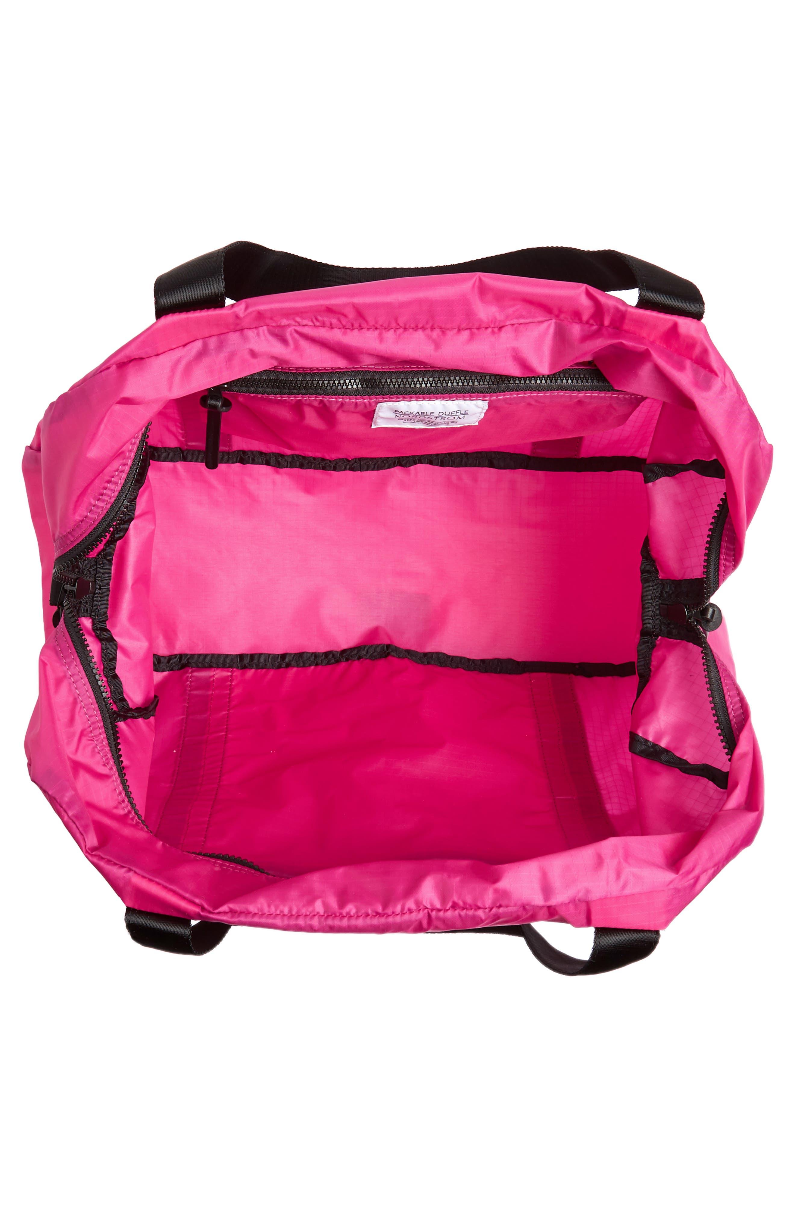 Packable Nylon Duffel Bag,                             Alternate thumbnail 12, color,