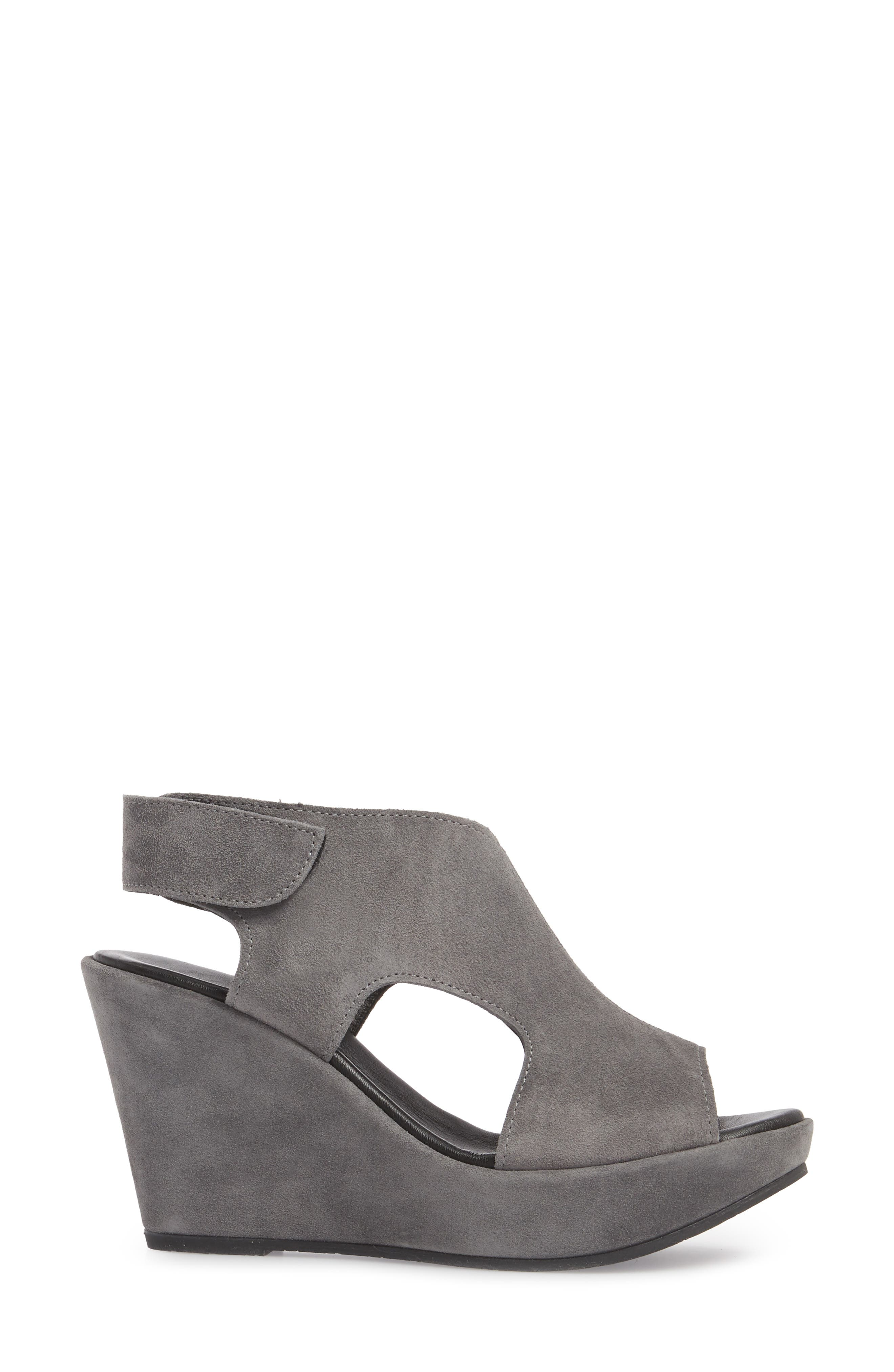 Reed Wedge Sandal,                             Alternate thumbnail 3, color,                             029