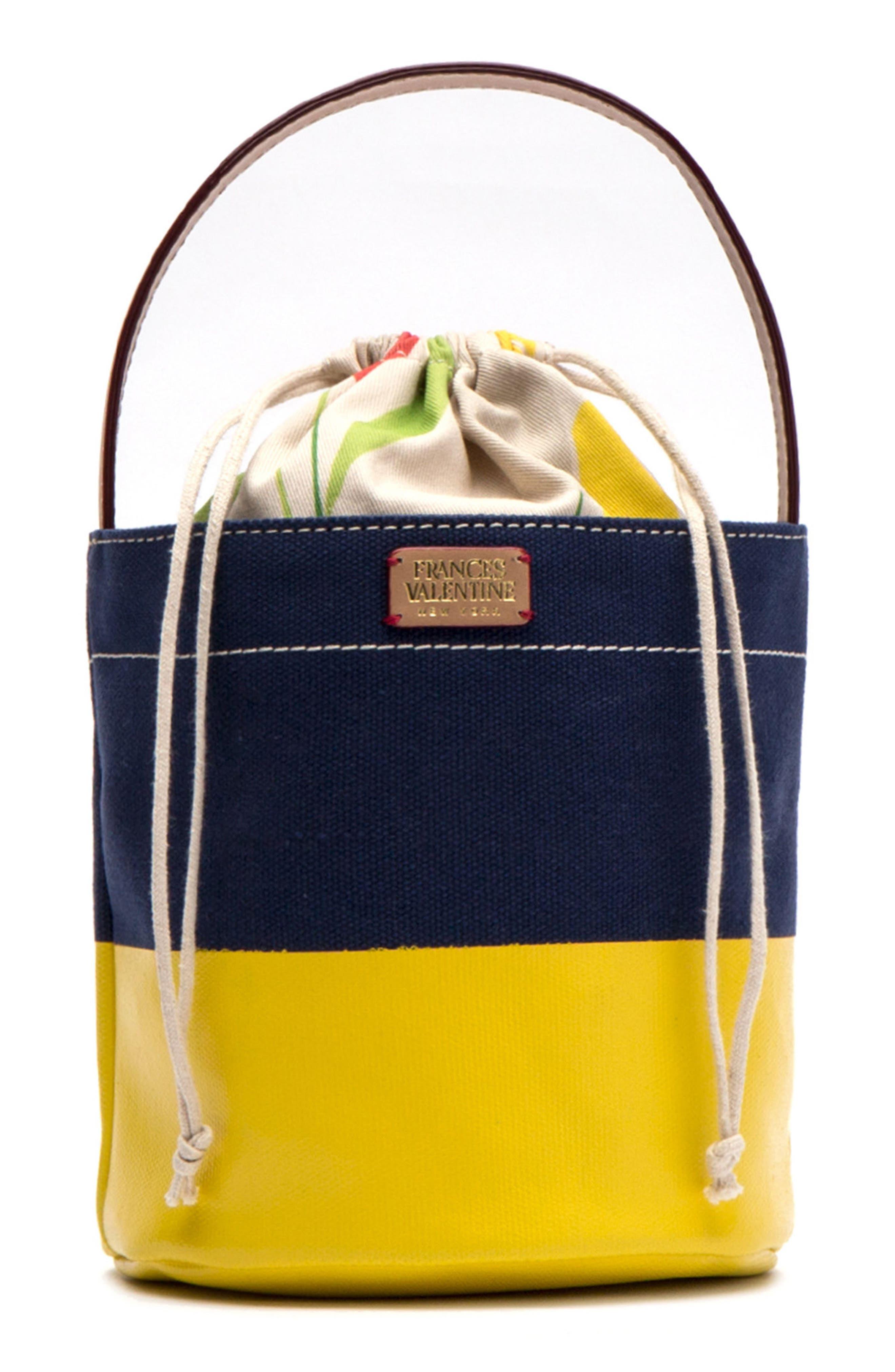 Small Canvas Bucket Bag,                             Main thumbnail 1, color,