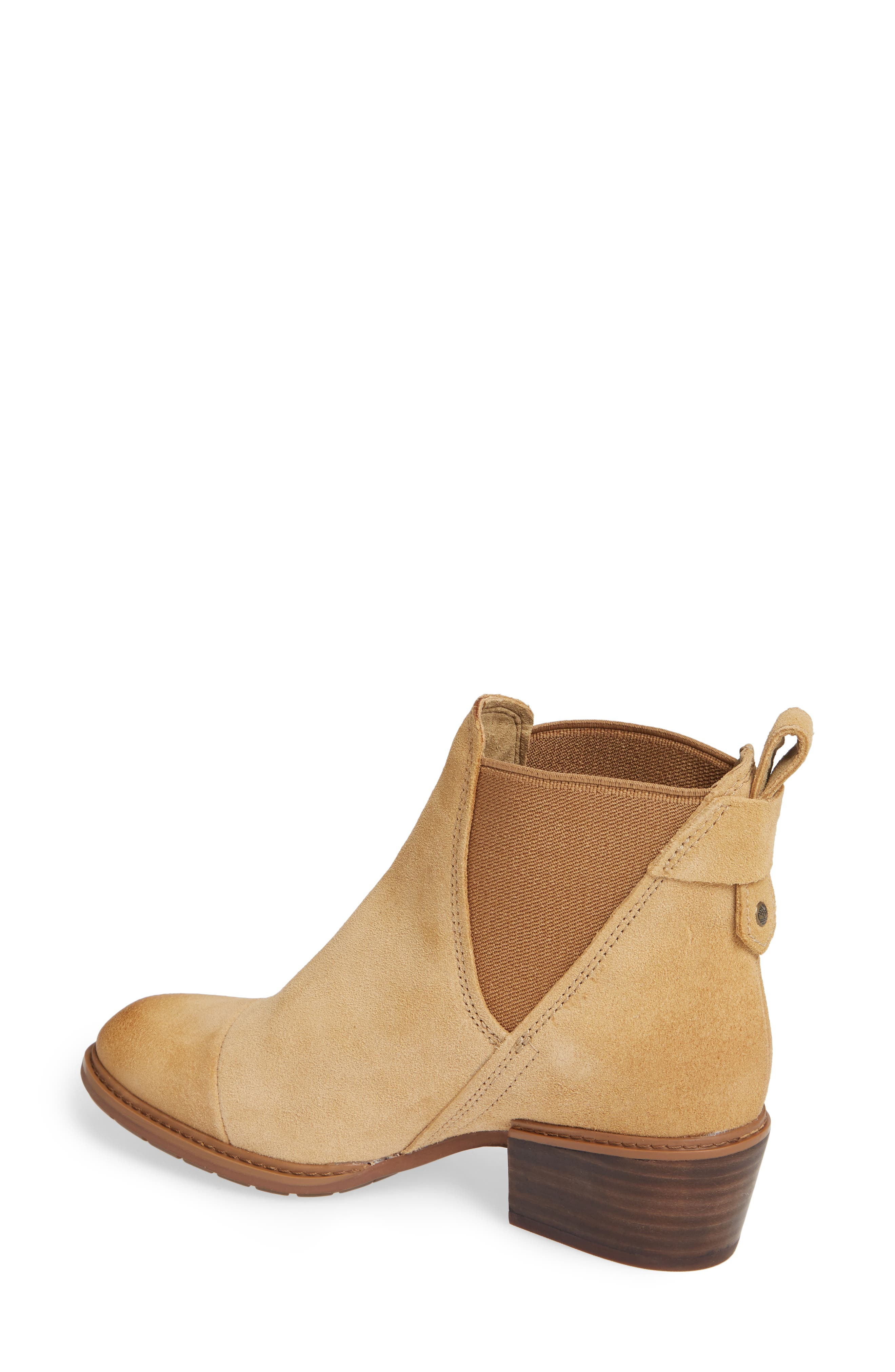 TIMBERLAND,                             Sutherlin Bay Slouch Chelsea Bootie,                             Alternate thumbnail 2, color,                             ICED COFFEE SUEDE