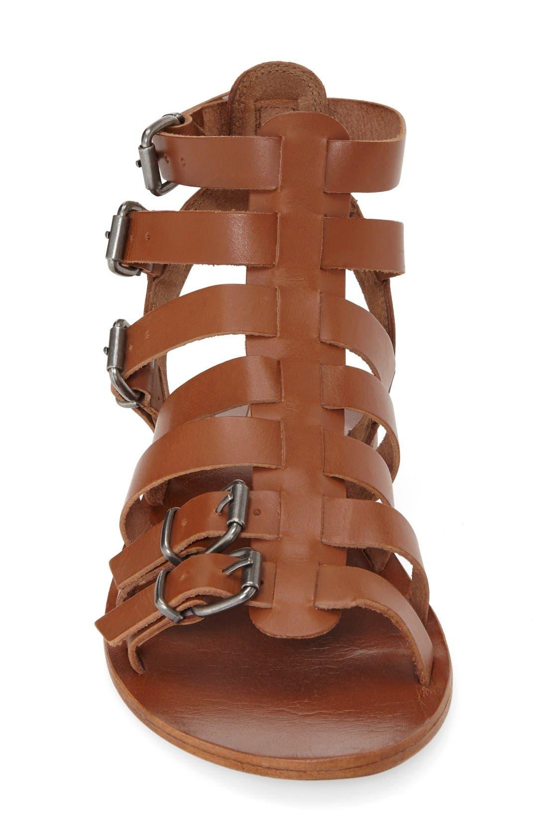 'Favorite' Flat Gladiator Sandal,                             Alternate thumbnail 6, color,