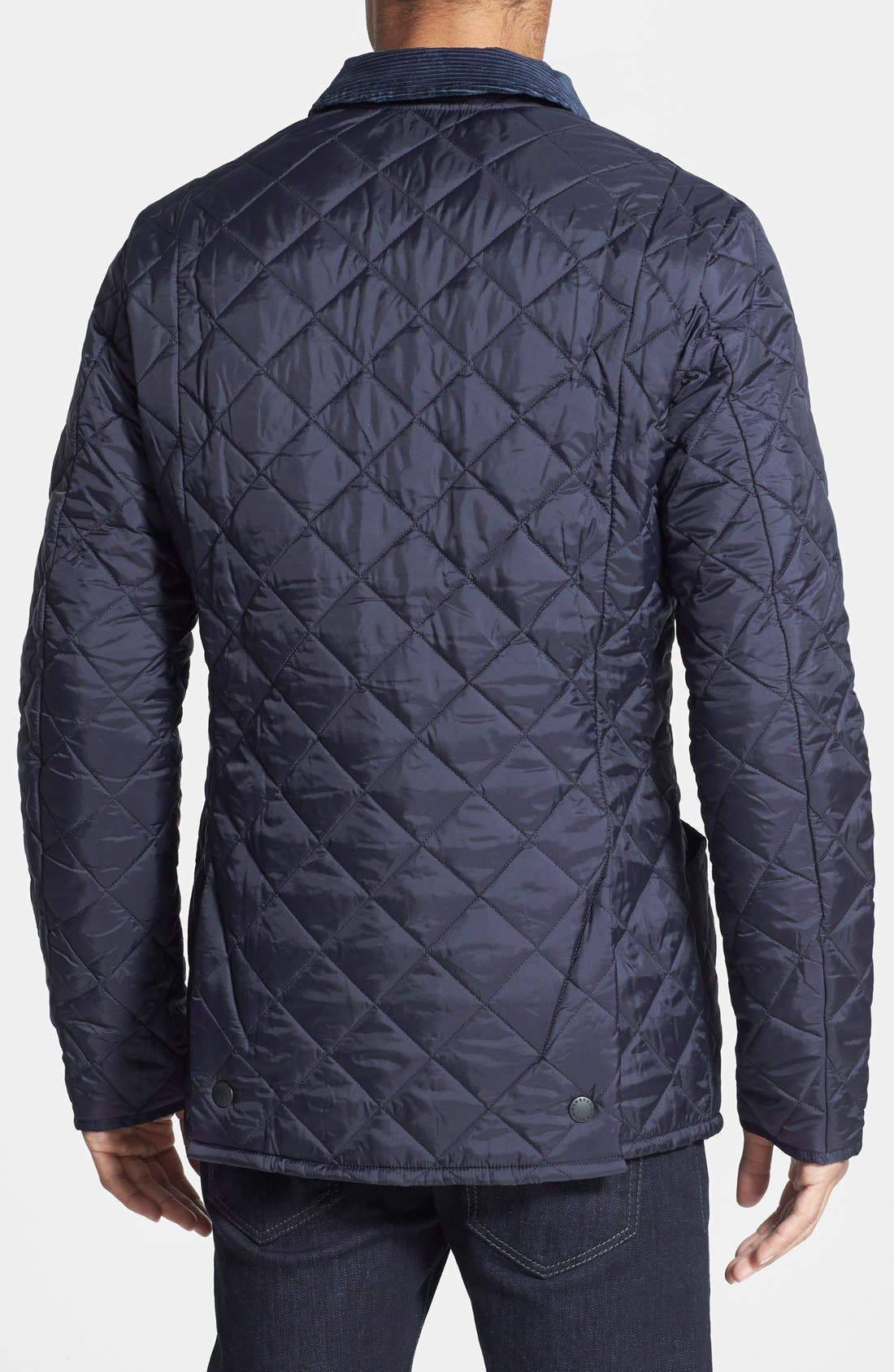 'Heritage Liddesdale' Slim Fit Quilted Jacket,                             Alternate thumbnail 3, color,                             NAVY