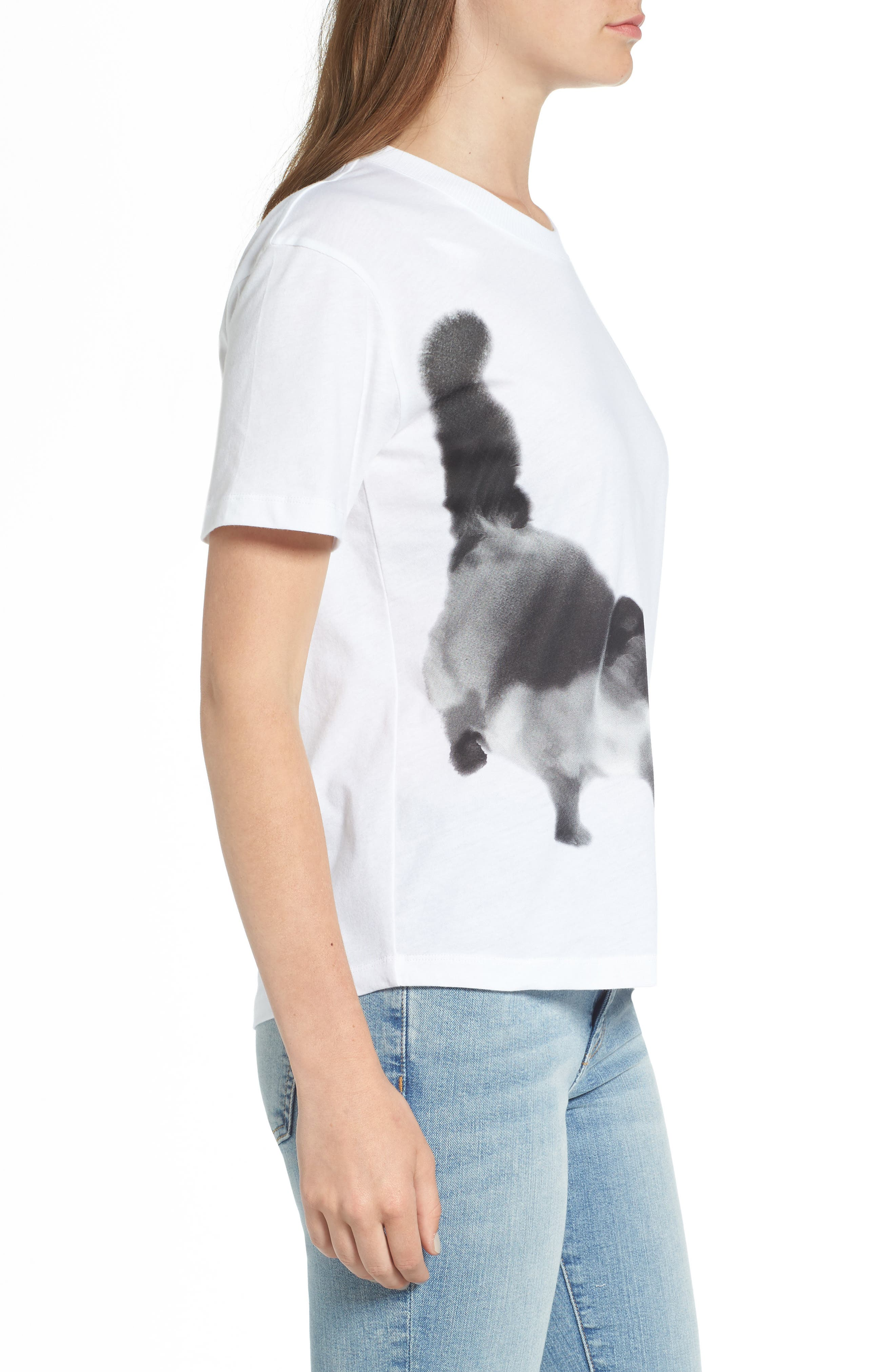 Cat Print Graphic Tee,                             Alternate thumbnail 6, color,