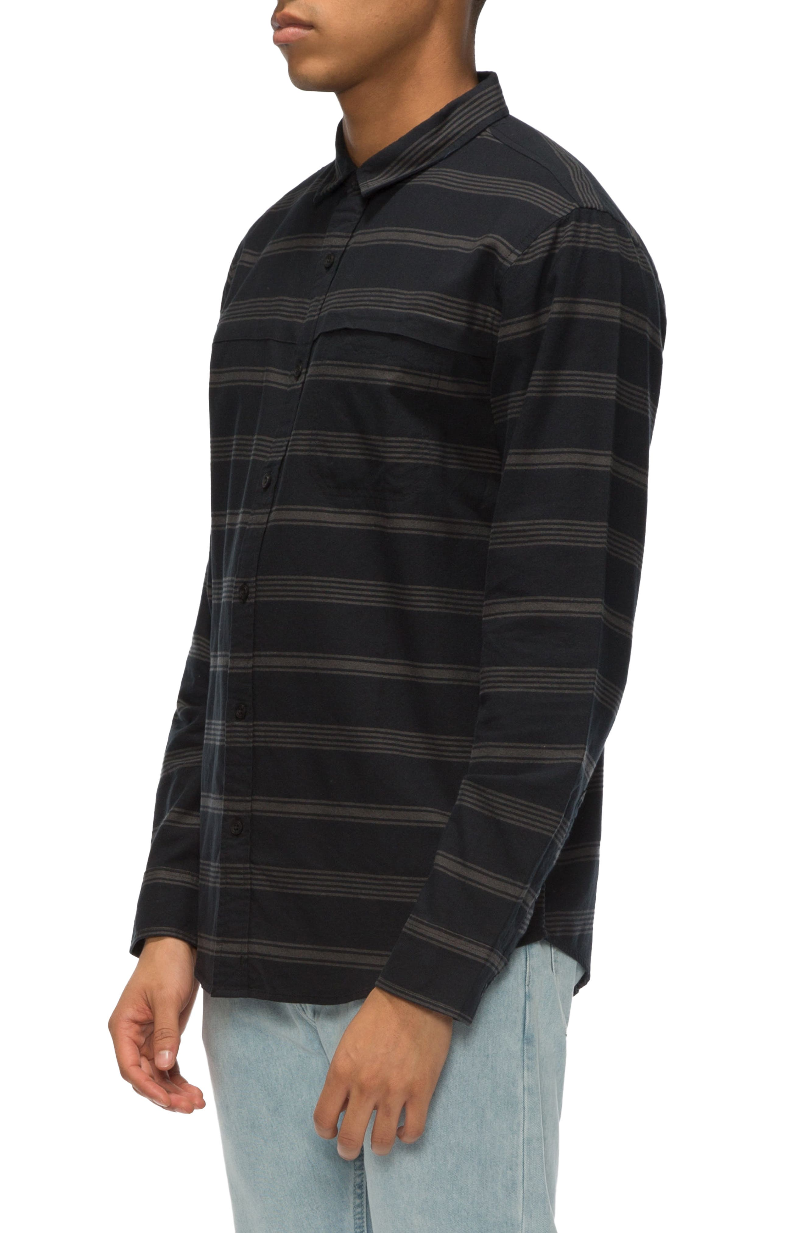 Shin Stripe Sport Shirt,                             Alternate thumbnail 3, color,                             014