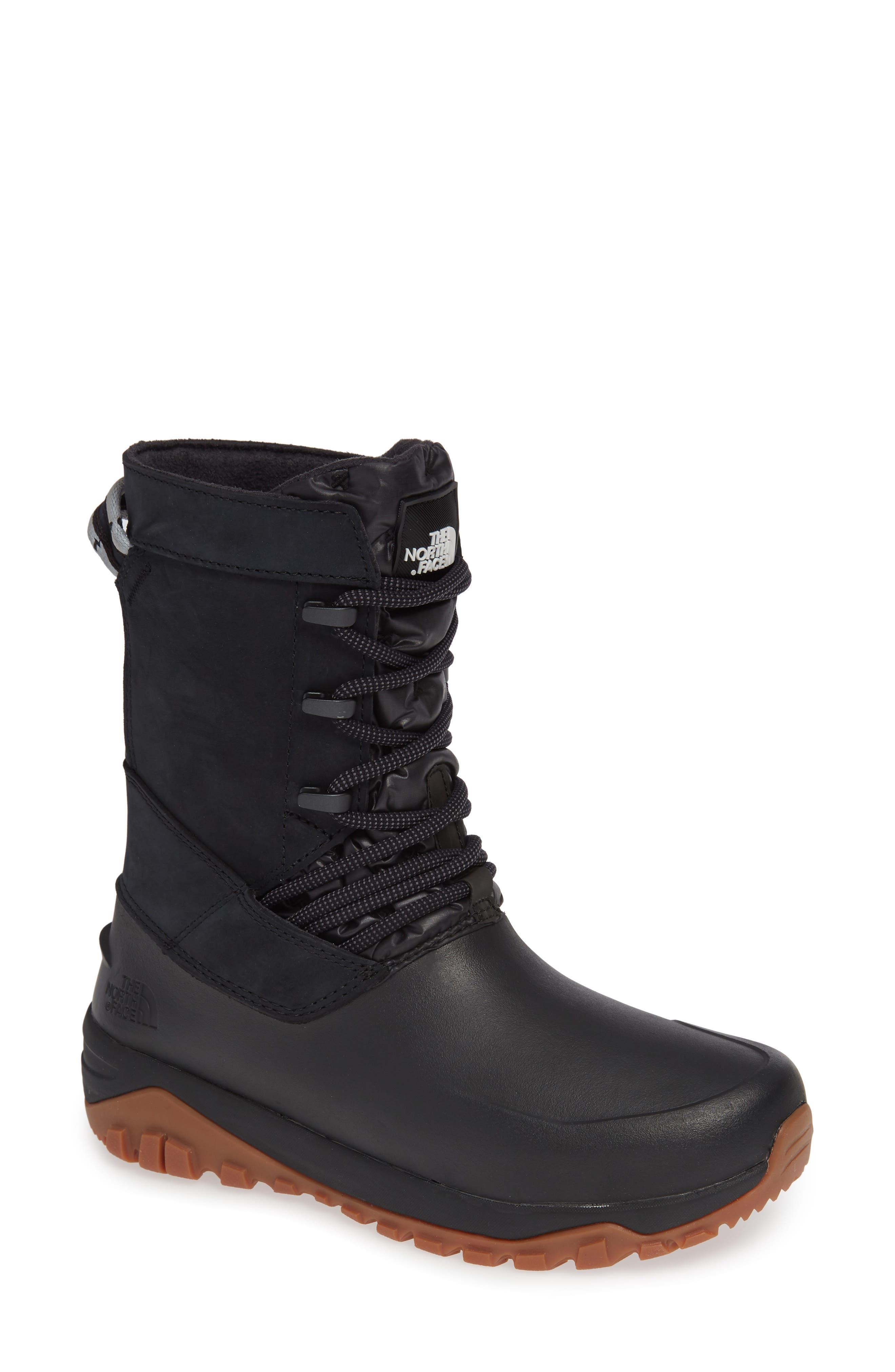 Yukiona Waterproof Winter Boot,                             Main thumbnail 1, color,                             BLACK/ BLACK