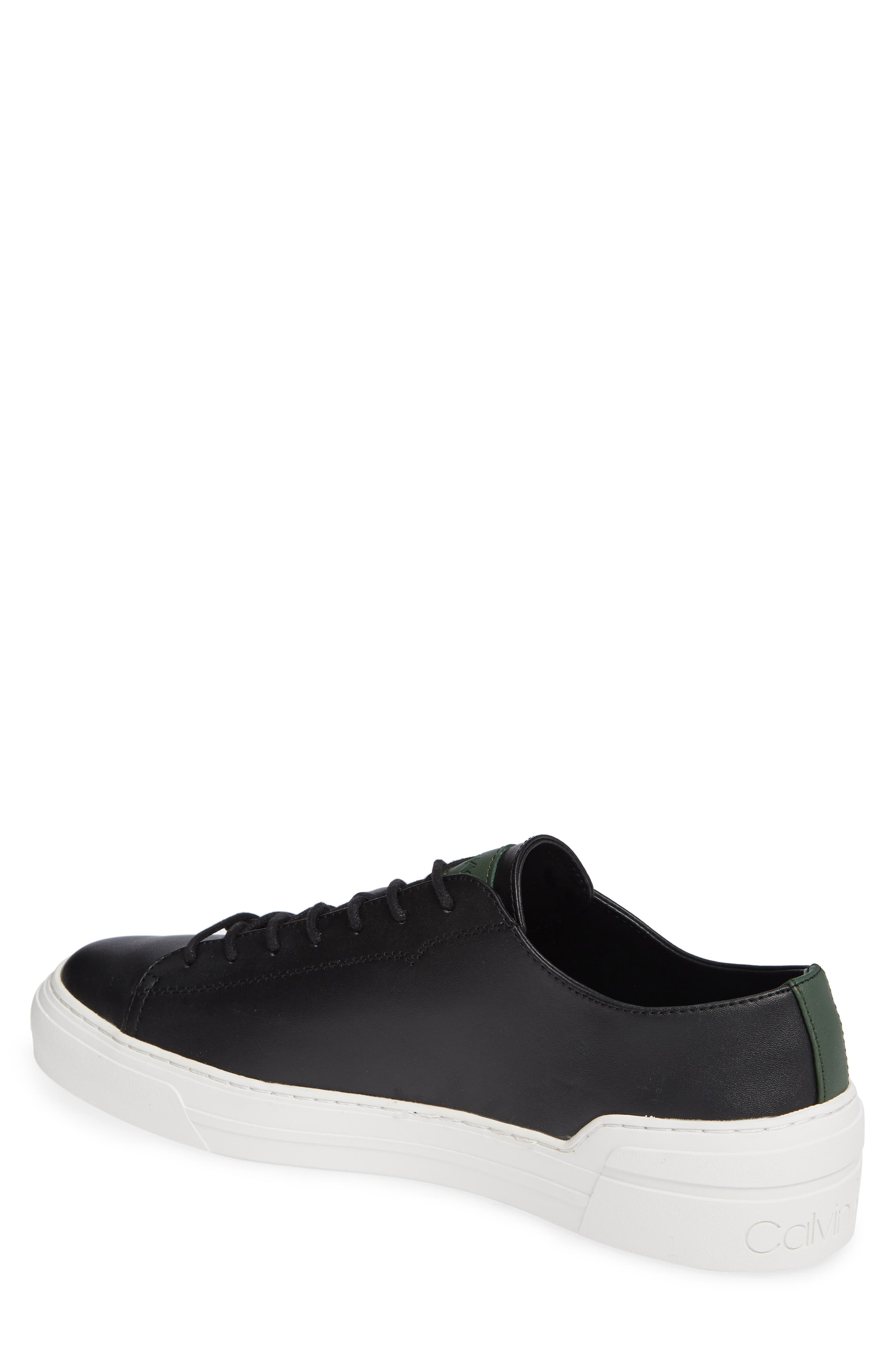 Octavian Low Top Sneaker,                             Alternate thumbnail 2, color,                             BLACK LEATHER