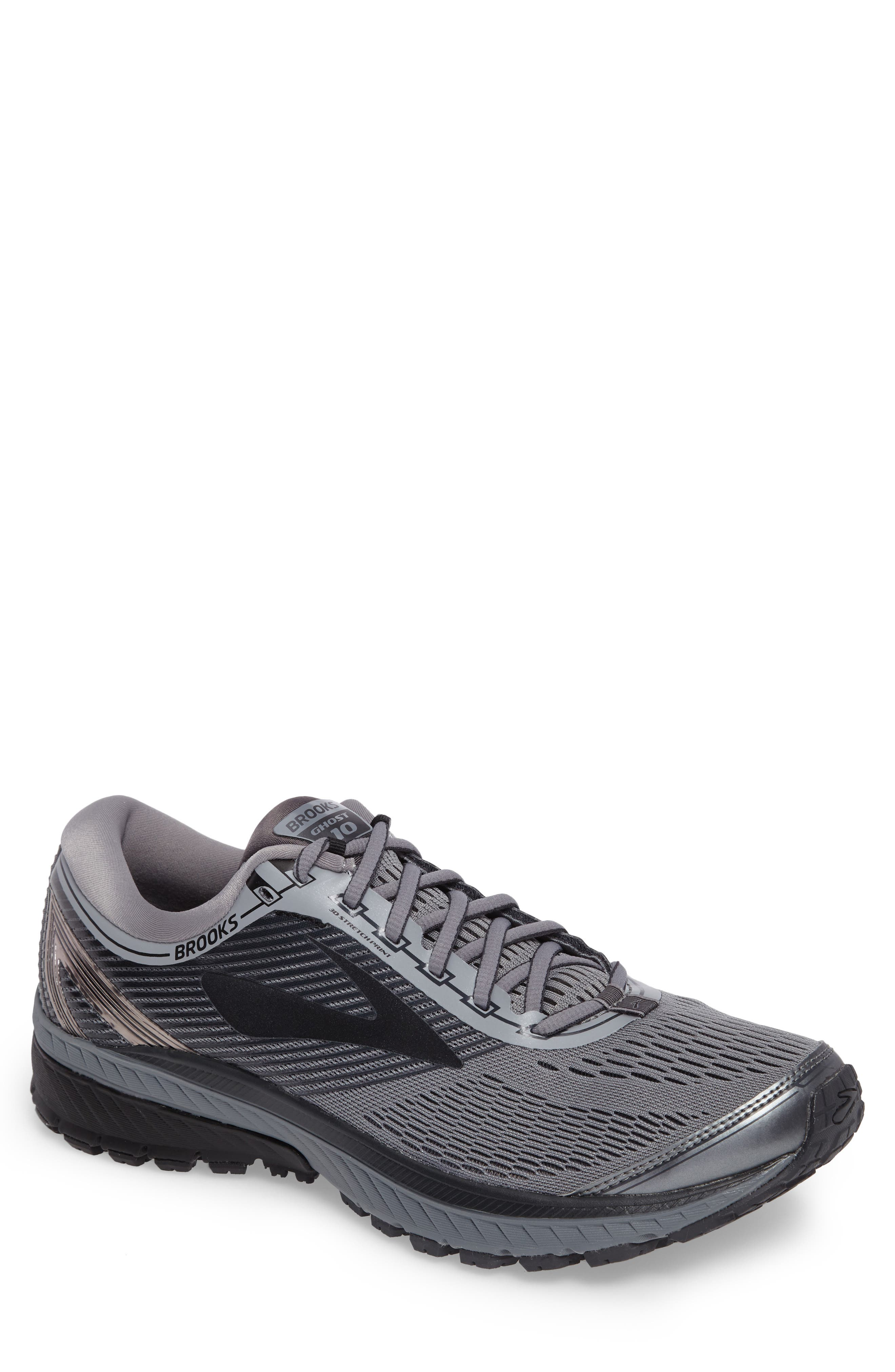 Ghost 10 Running Shoe,                         Main,                         color, GREY/ METALLIC CHARCOAL/ EBONY