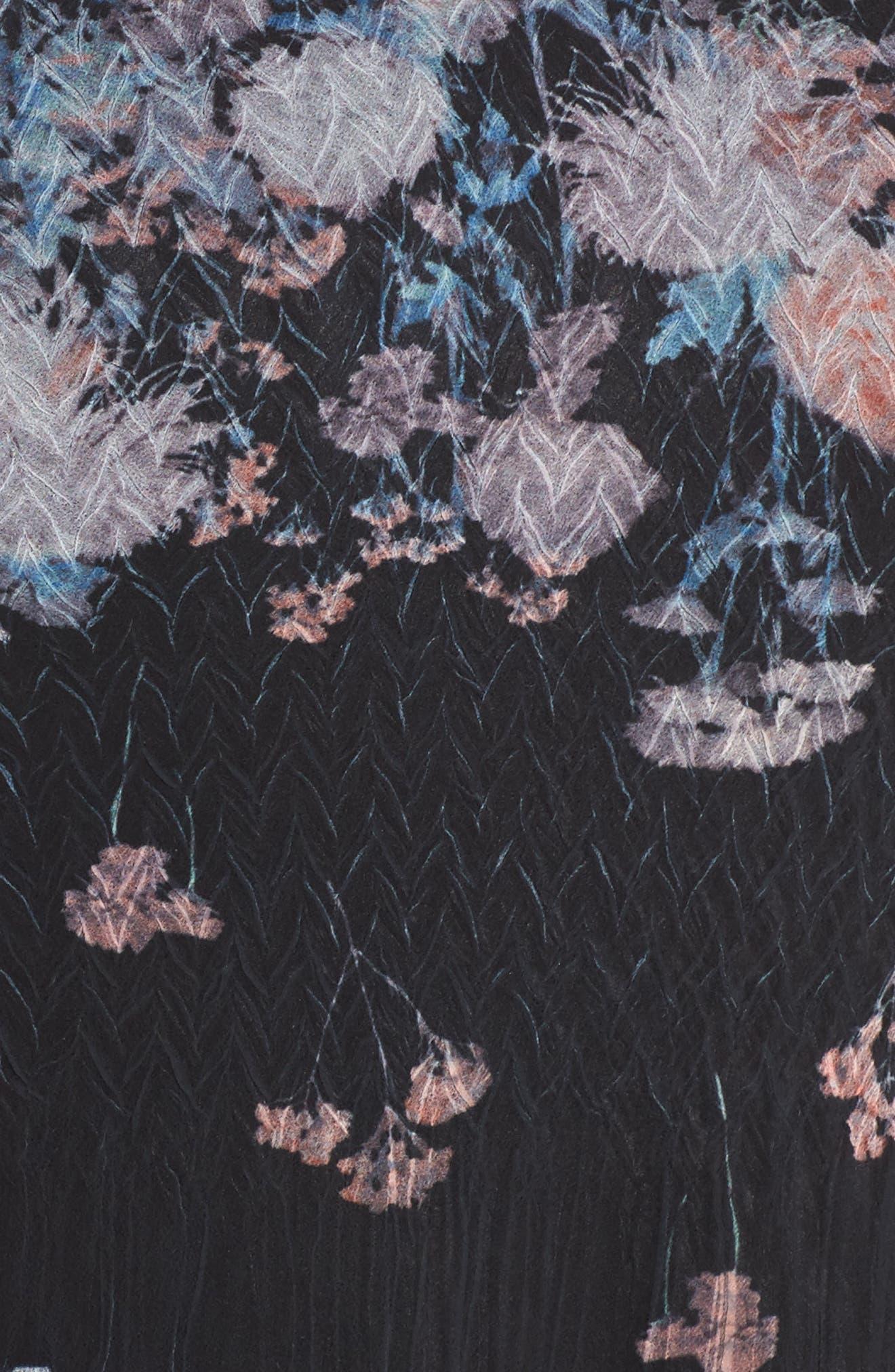 Floral Print Handkerchief Hem Maxi Dress,                             Alternate thumbnail 5, color,                             408