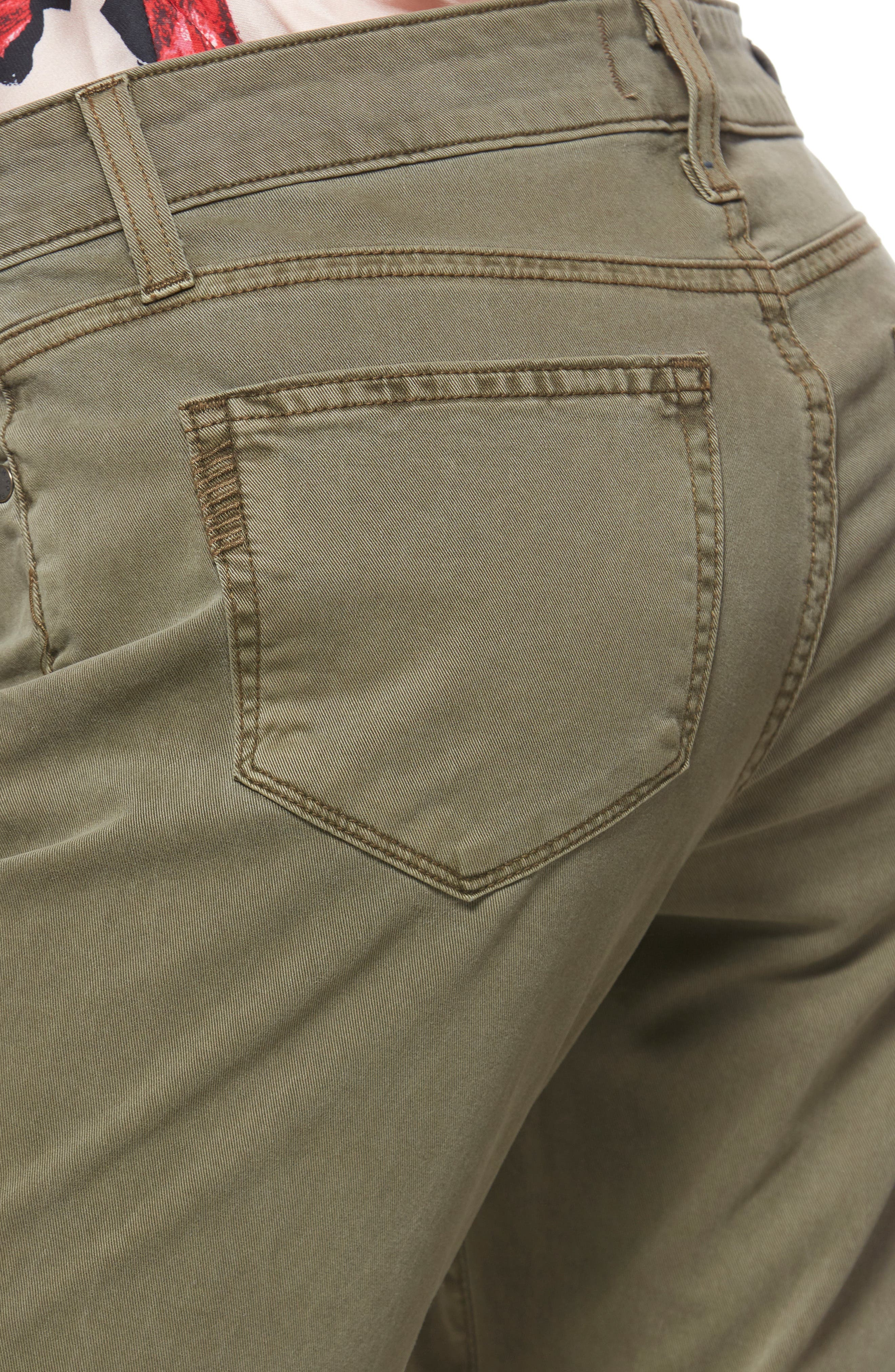 Brigitte Crop Boyfriend Jeans,                             Alternate thumbnail 4, color,                             SAHARA GREEN