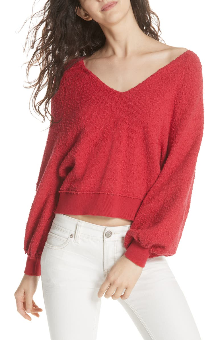 Found My Friend Sweater, Main, color, RED