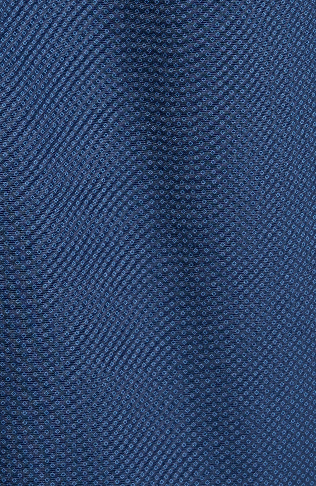 Regular Fit Non-Iron Diamond Print Sport Shirt,                             Alternate thumbnail 5, color,