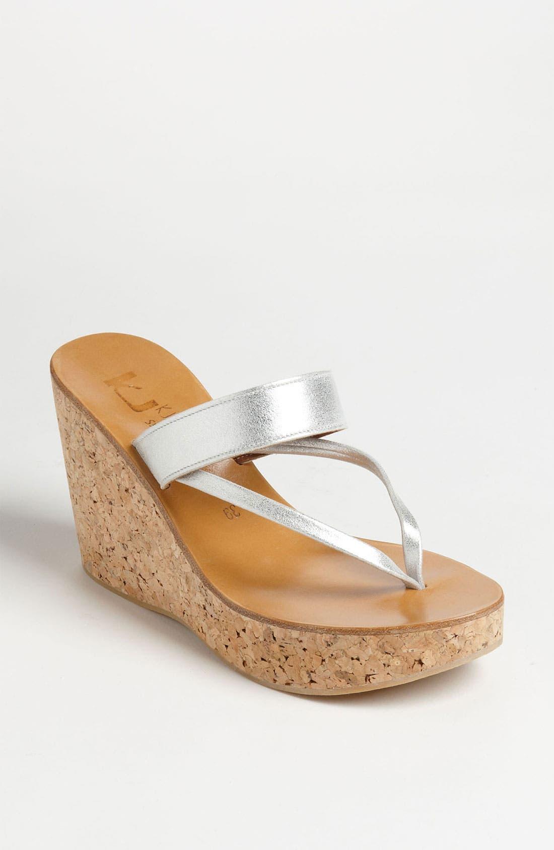 K.JACQUES ST. TROPEZ 'Saturnine' Cork Wedge Sandal, Main, color, 040