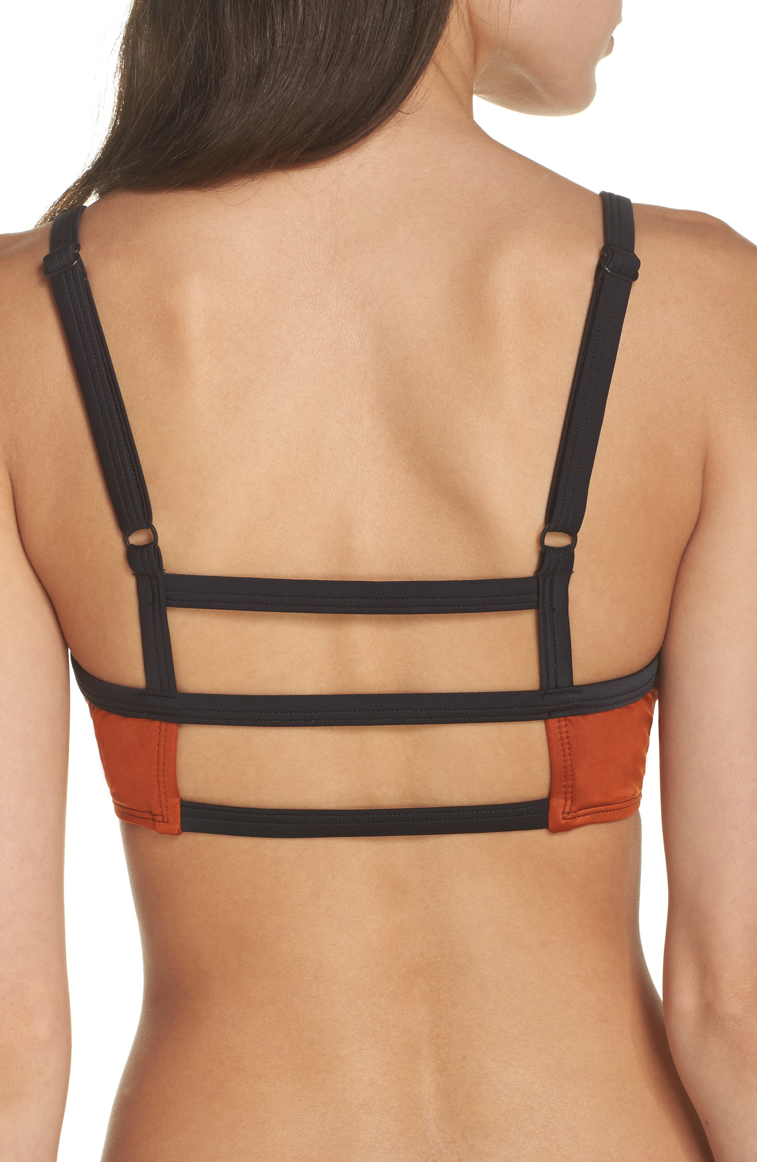 Ladder Back Bikini Top,                             Alternate thumbnail 4, color,                             225