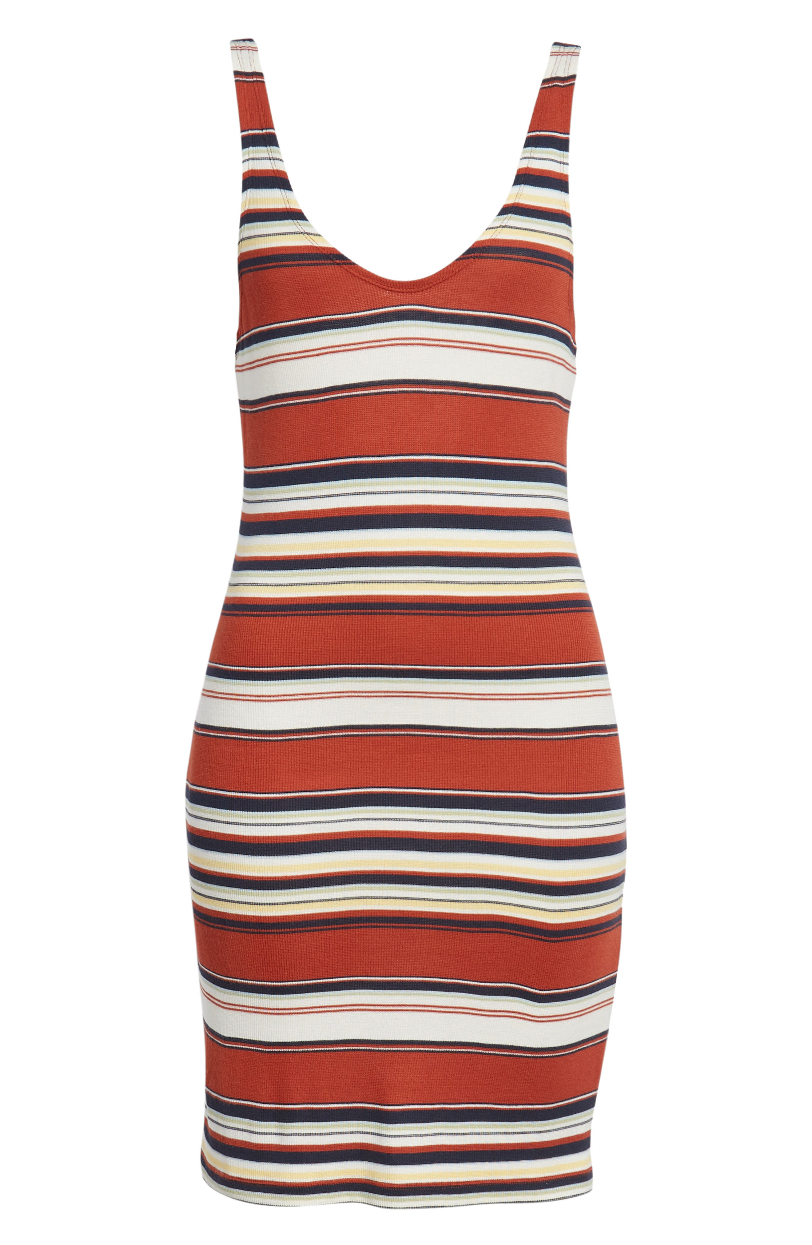 Homesick Stripe Ribbed Dress,                             Alternate thumbnail 7, color,