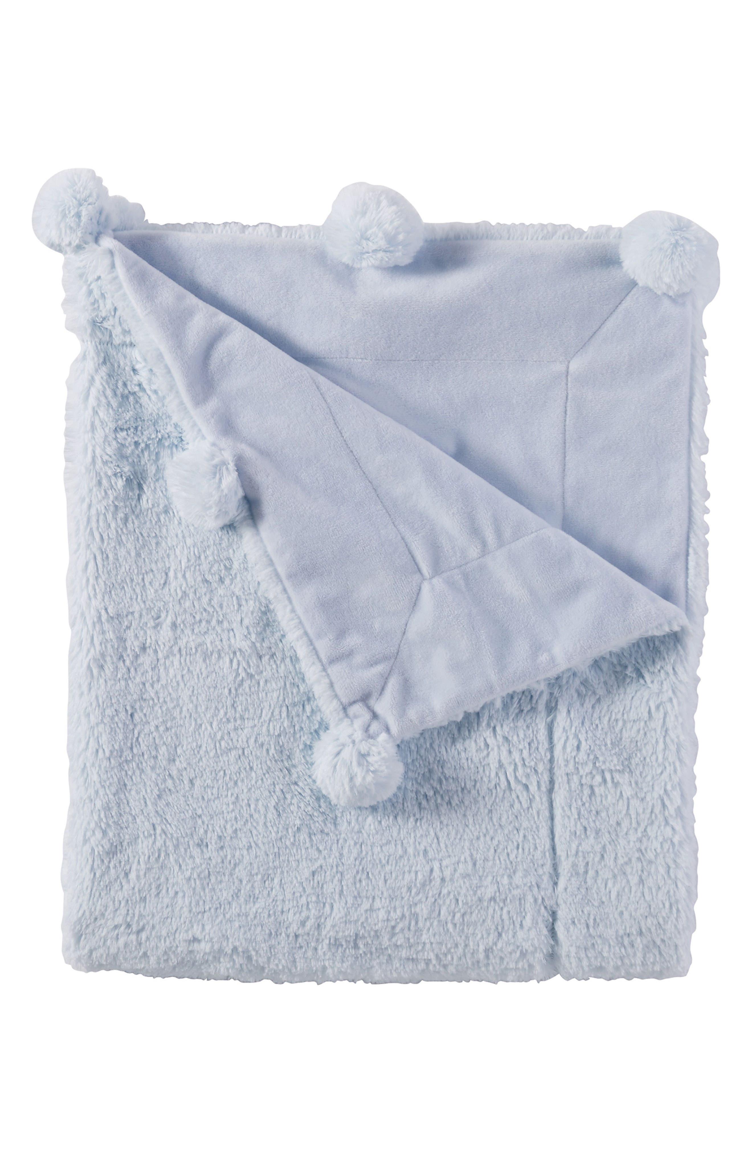 Pompom Receiving Blanket,                             Main thumbnail 1, color,                             400