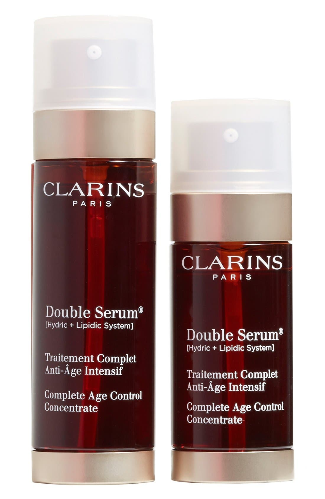 CLARINS,                             'Double Serum<sup>®</sup>' Complete Age Control Concentrate Duo,                             Main thumbnail 1, color,                             000