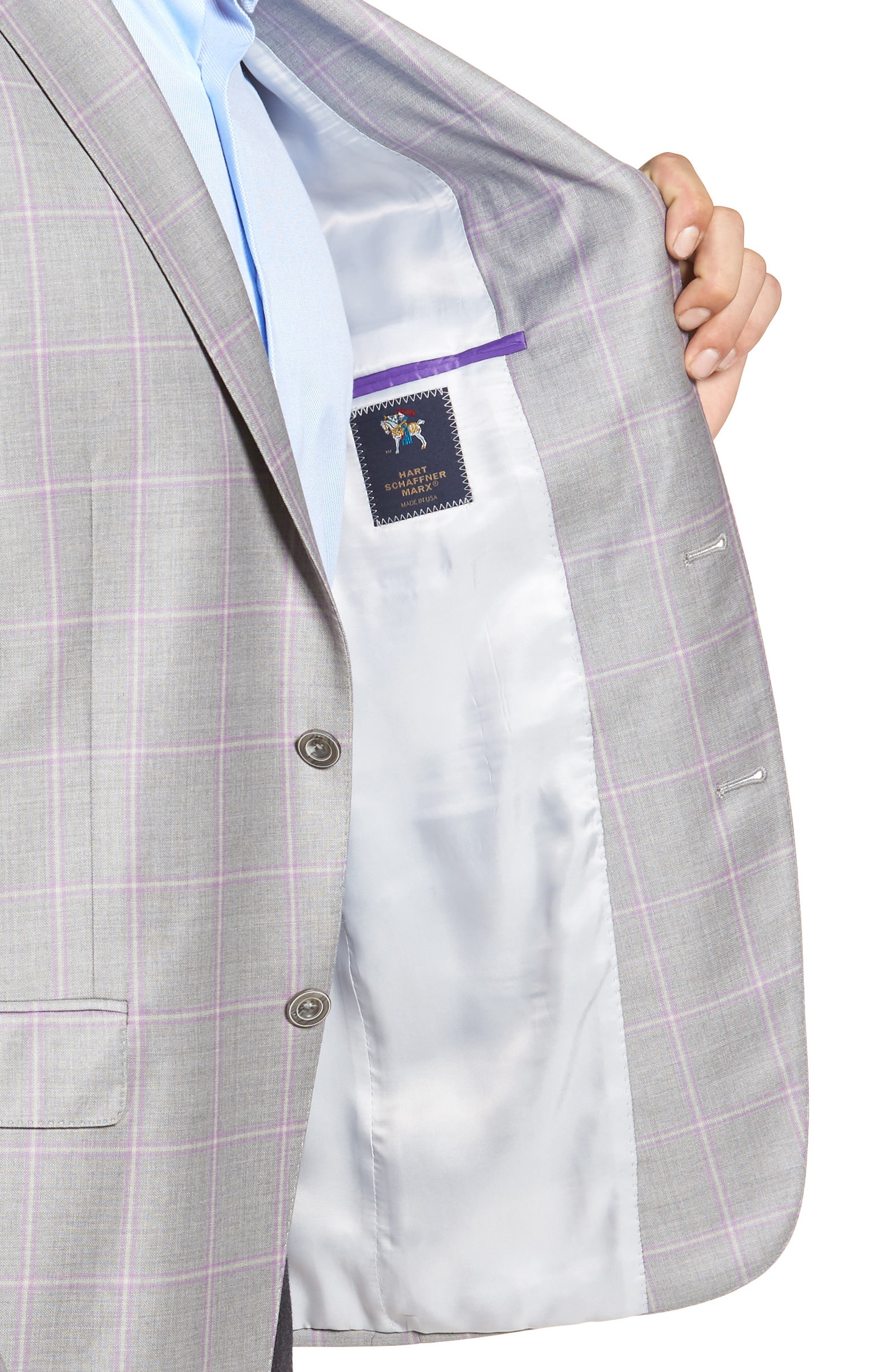 Classic Fit Windowpane Wool Sport Coat,                             Alternate thumbnail 4, color,                             050