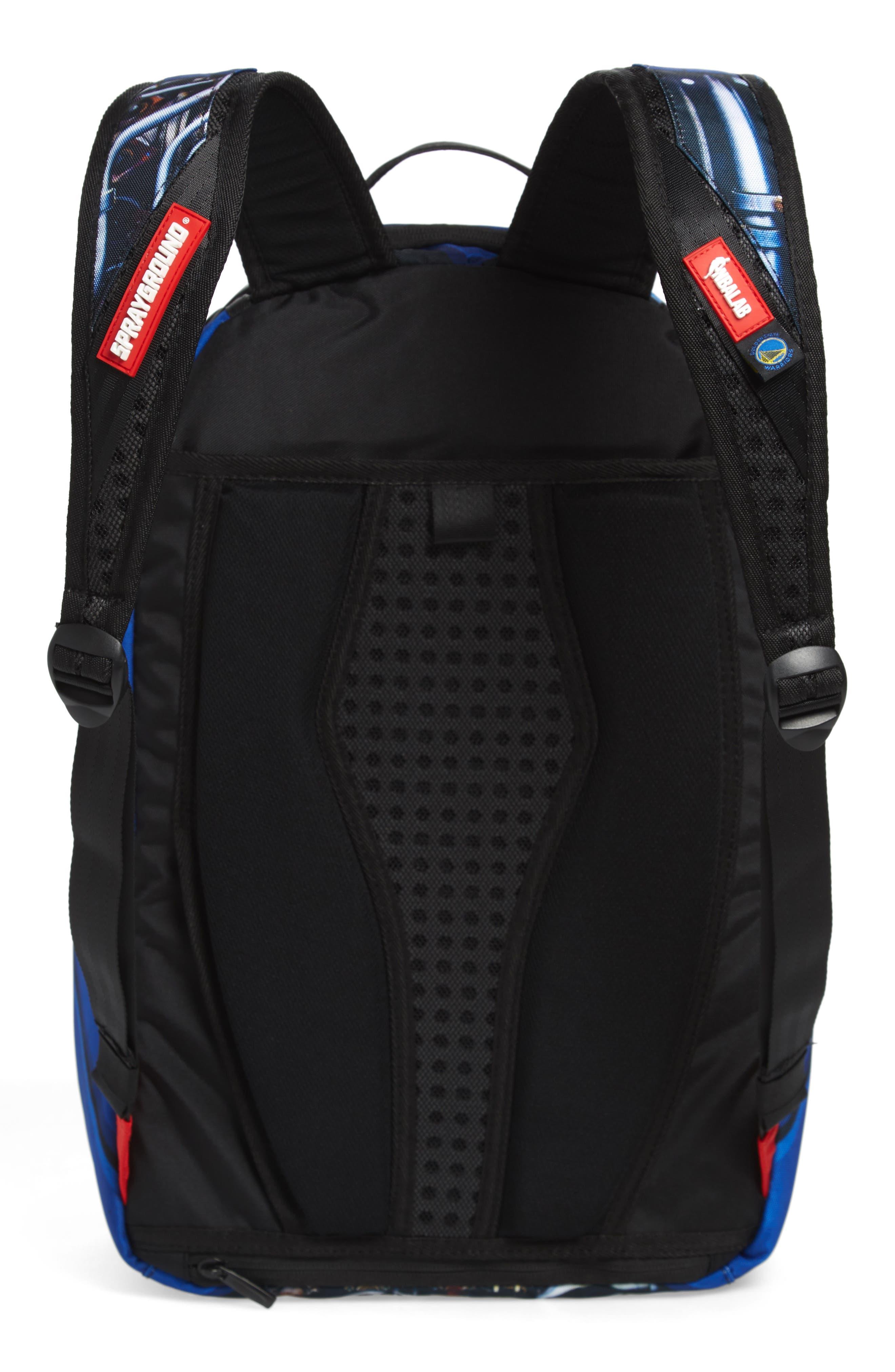 SPRAYGROUND,                             Curry Elysium Backpack,                             Alternate thumbnail 3, color,                             BLUE