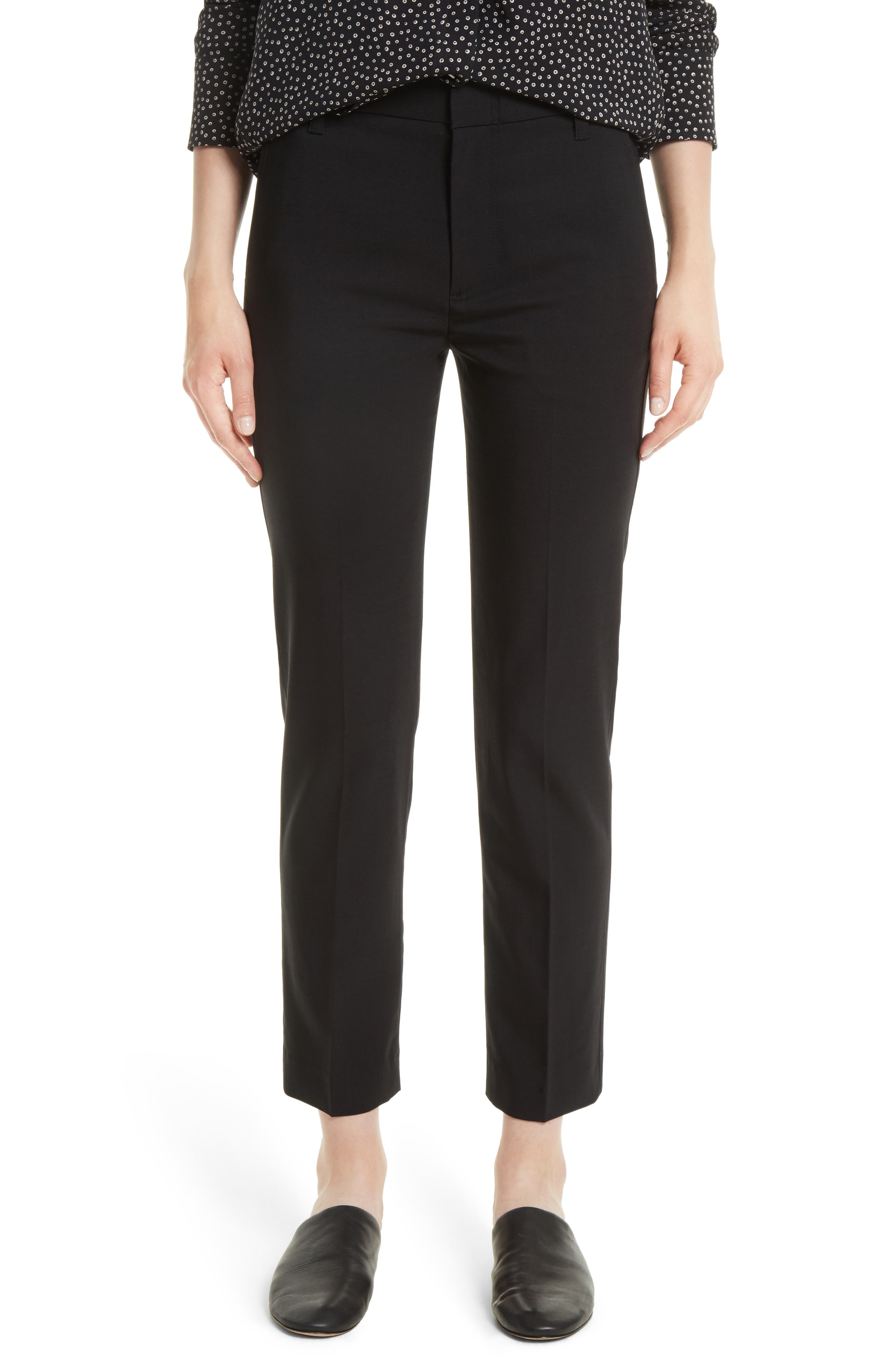 VINCE,                             Tapered Ankle Trousers,                             Main thumbnail 1, color,                             BLACK