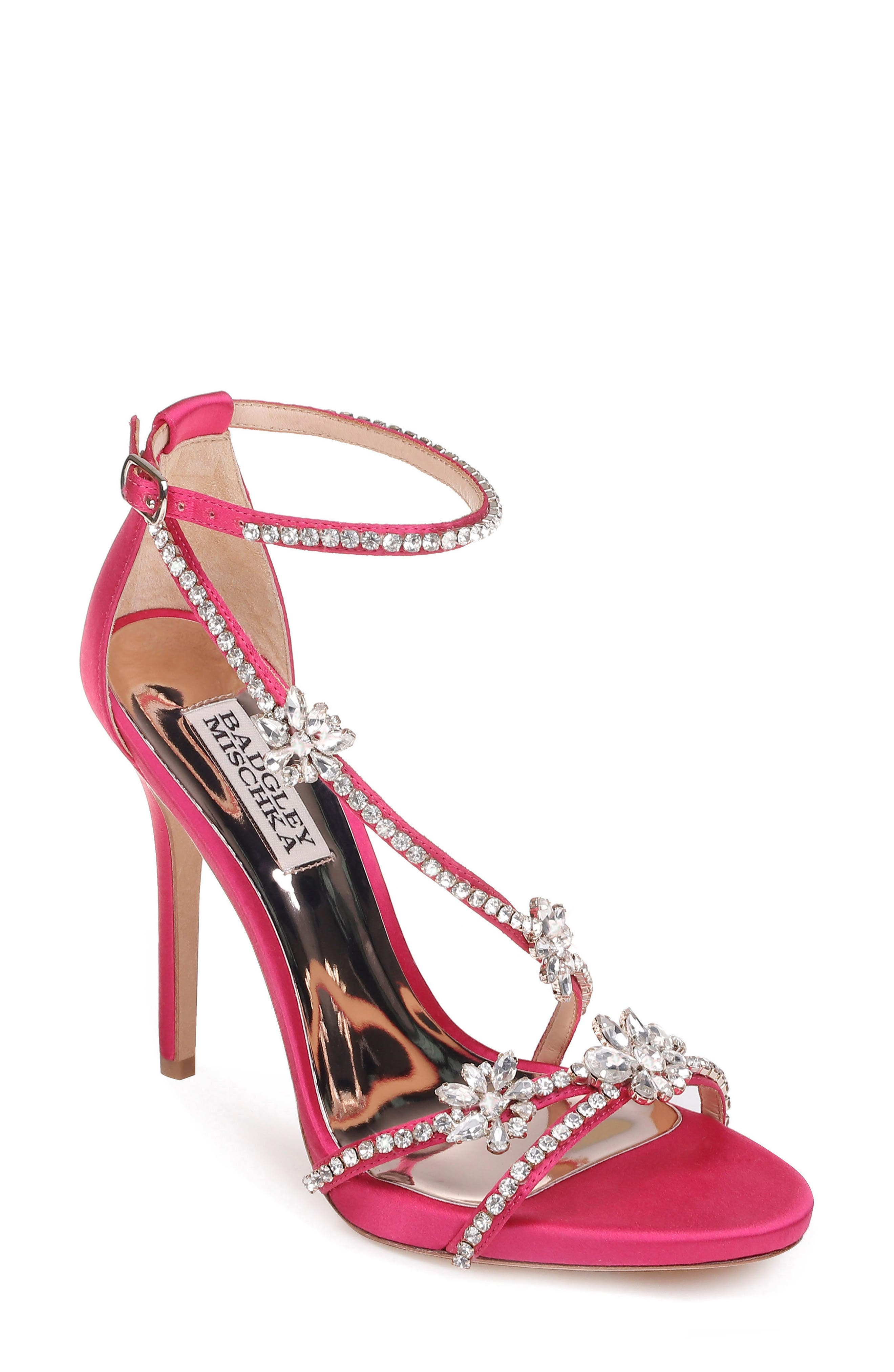 Badgley Mischka Hodge Strappy Sandal, Pink