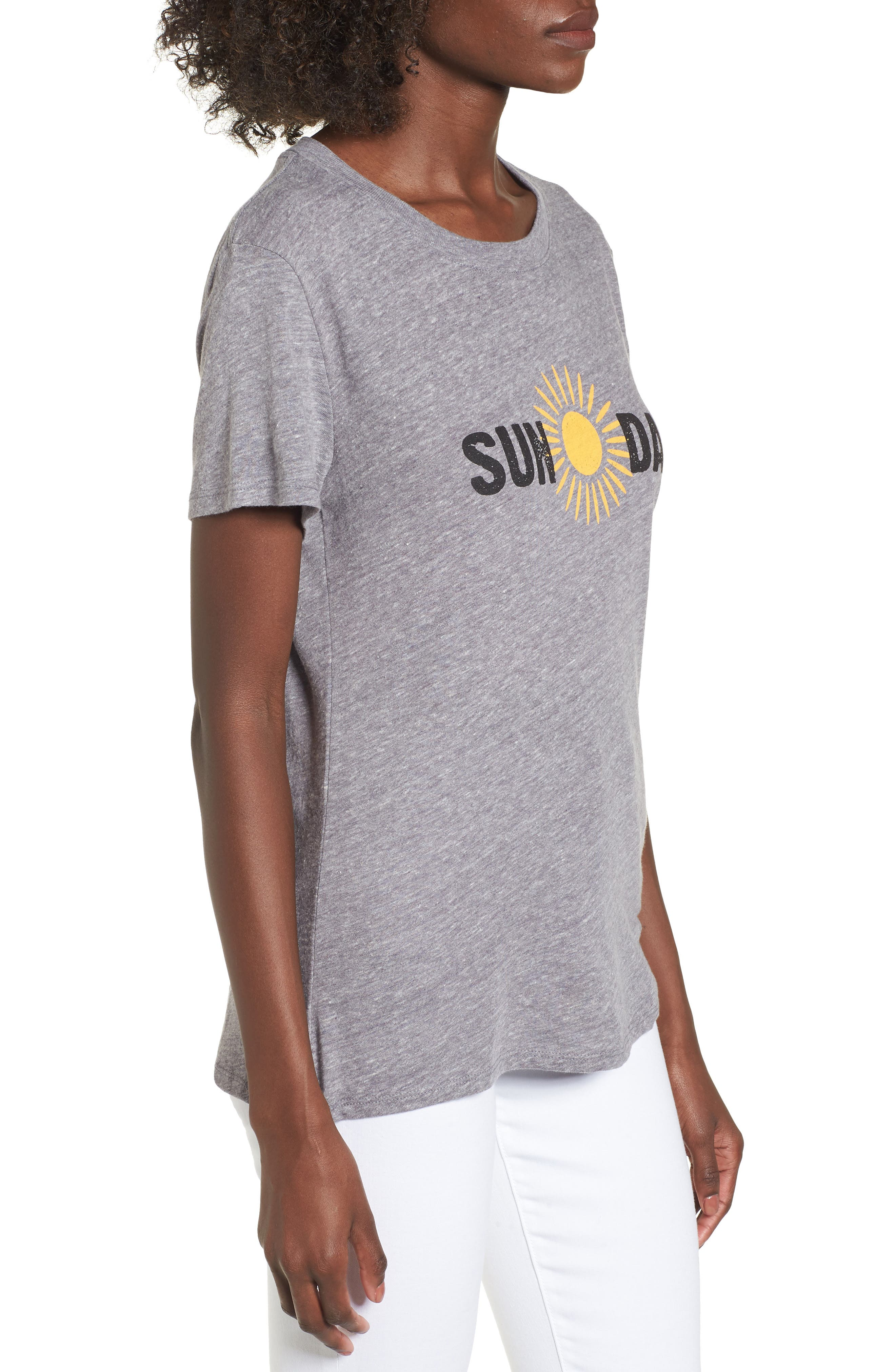 Sun Day Graphic Tee,                             Alternate thumbnail 3, color,                             HEATHER GREY