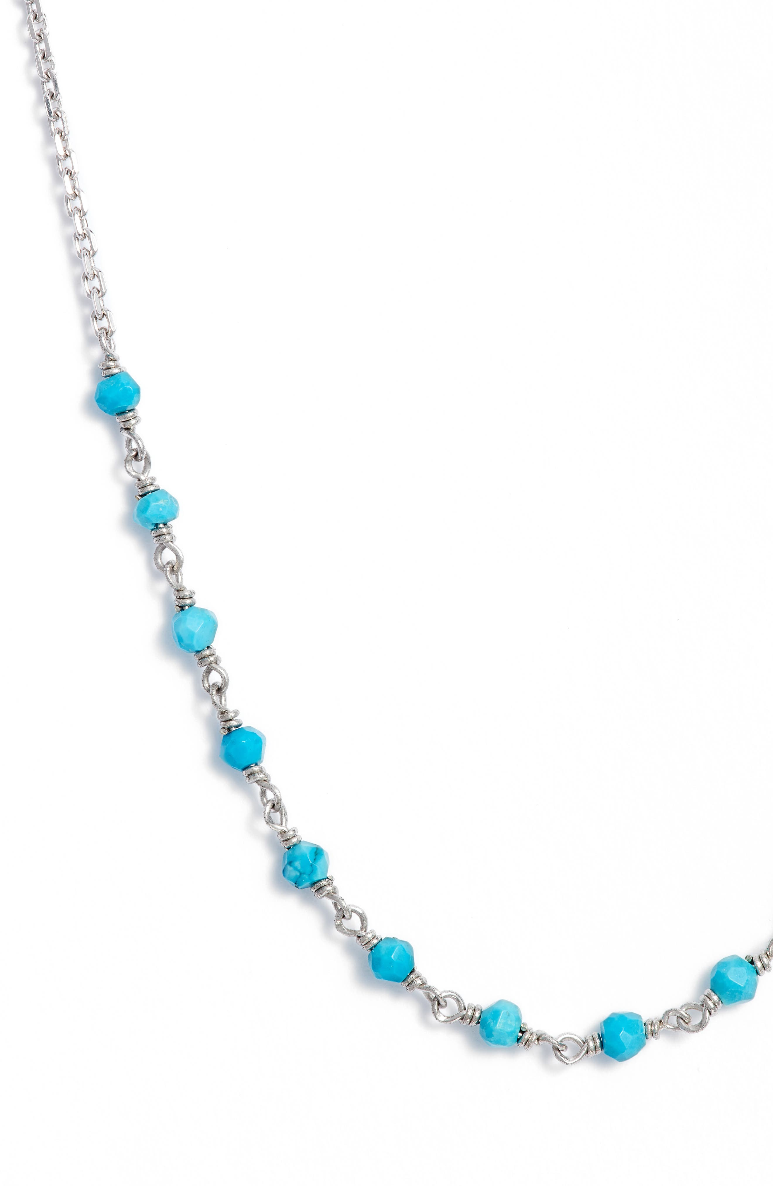 Lapis Collar Necklace,                         Main,                         color, SILVER/ TURQUOISE
