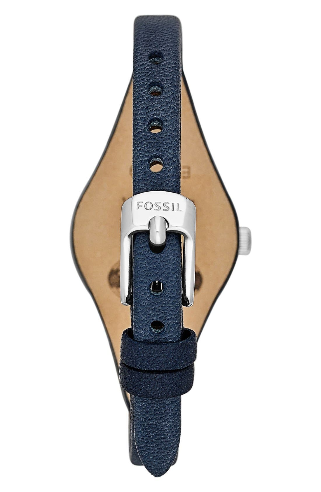 'Small Georgia' Leather Strap Watch, 26mm,                             Alternate thumbnail 19, color,