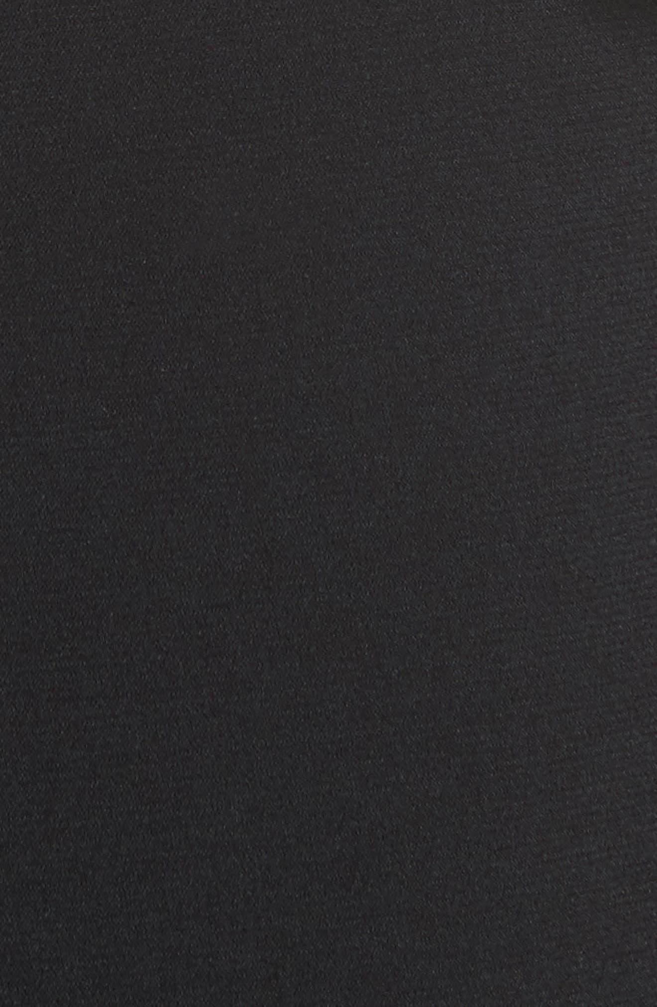 Lavete Stretch Crepe Midi Dress,                             Alternate thumbnail 6, color,                             BLACK
